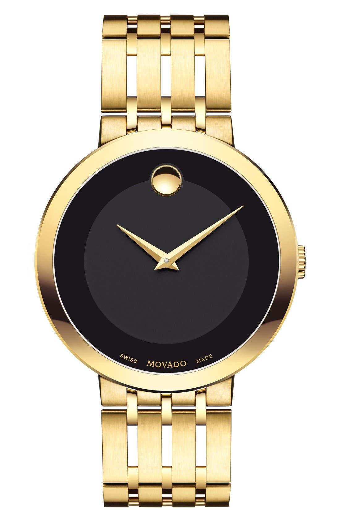 'Esperanza' Bracelet Watch, 39mm,                             Main thumbnail 1, color,                             GOLD/ BLACK