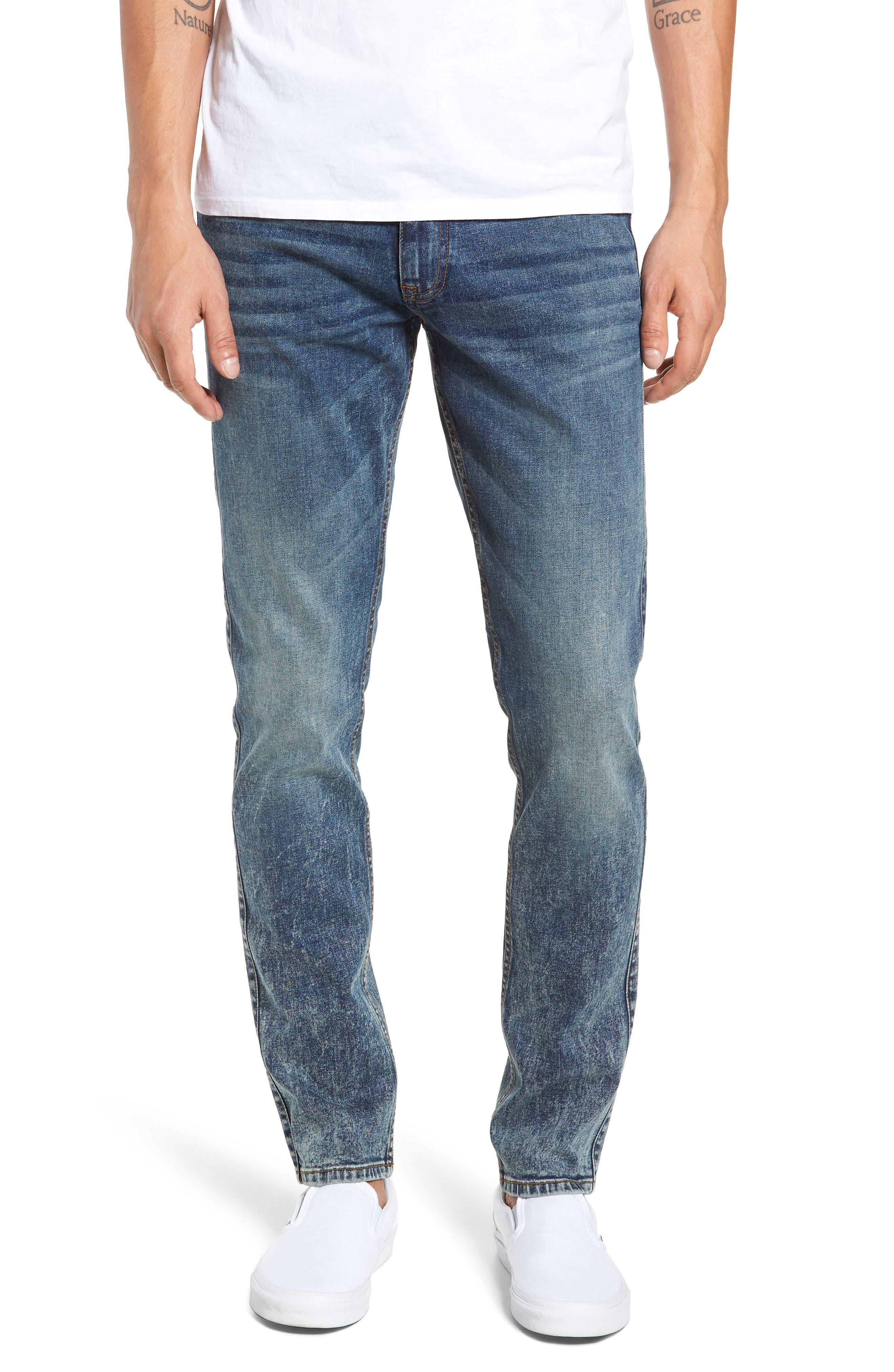 Clark Slim Straight Leg Jeans,                         Main,                         color, DIM BLUE
