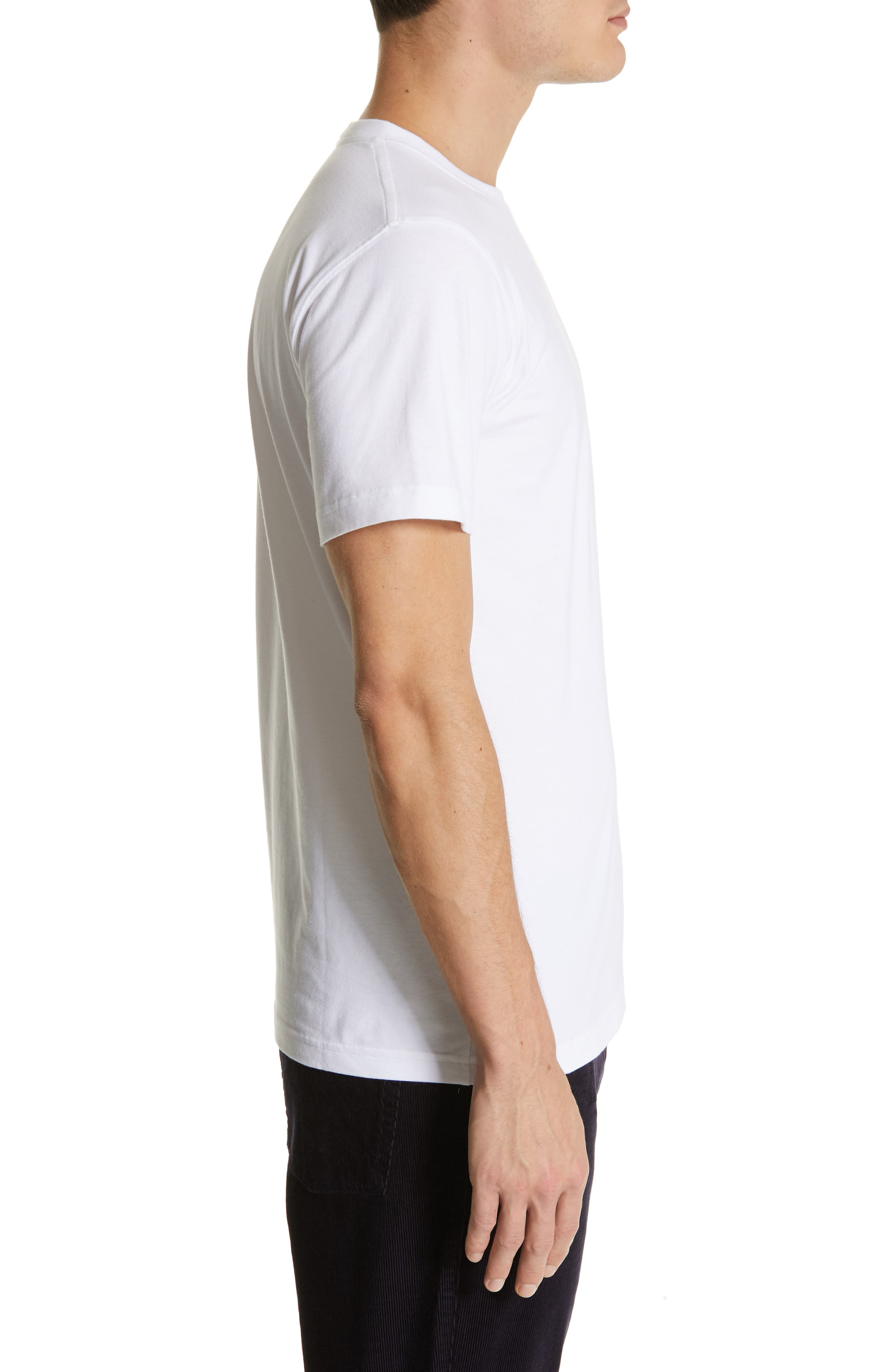 Niels Crewneck T-Shirt,                             Alternate thumbnail 3, color,                             WHITE