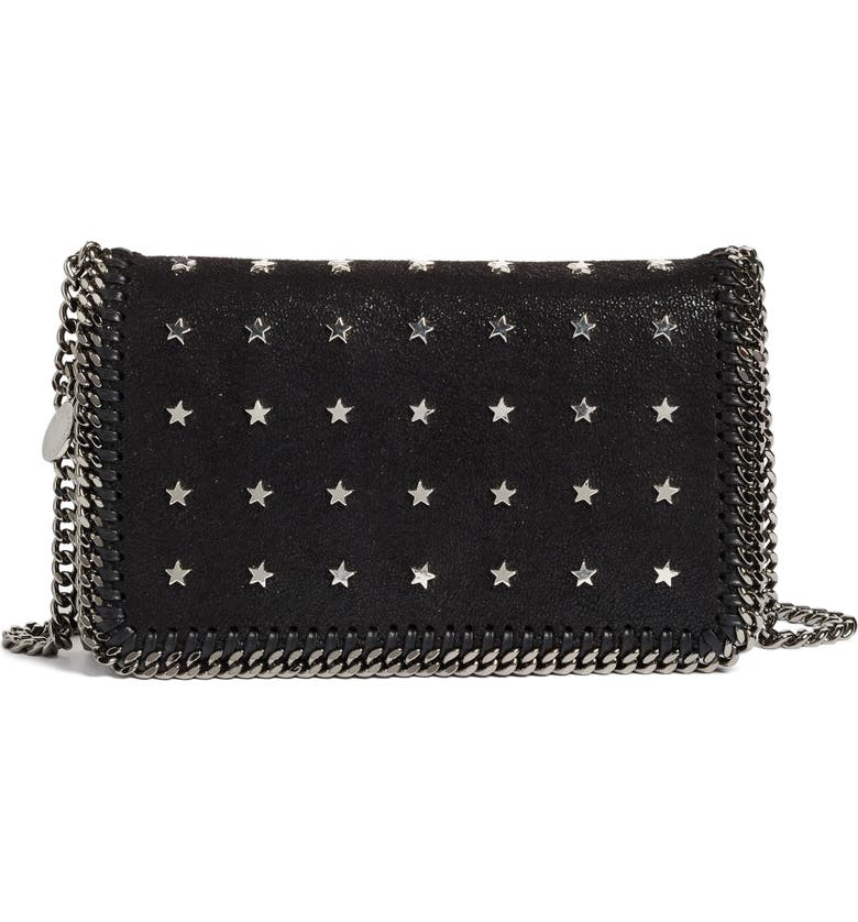3cdb4b1ce2b9 Stella McCartney Mini Falabella Star Studded Crossbody Bag