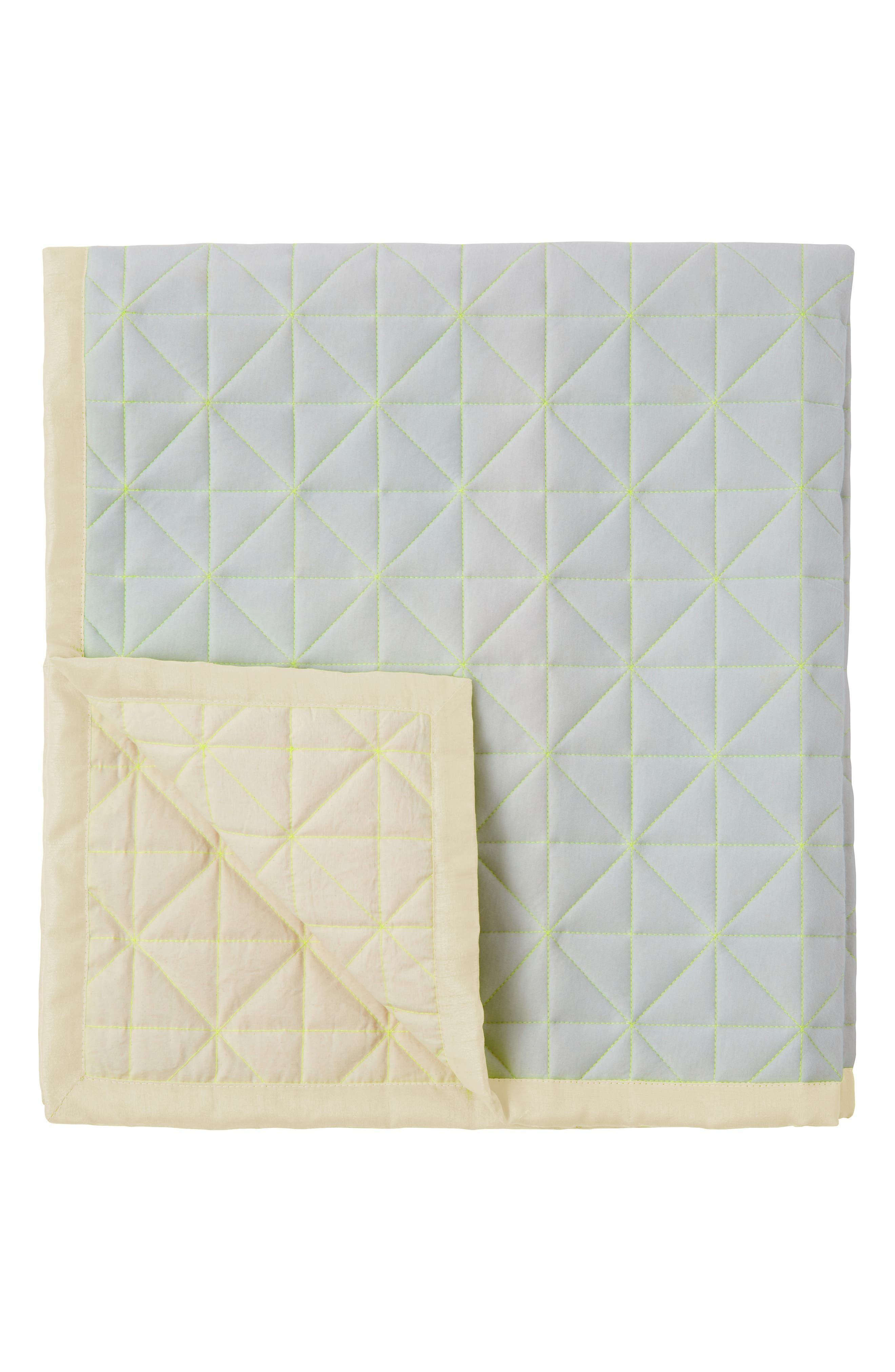 Quilted Organic Cotton Play Mat,                             Main thumbnail 1, color,                             BLUE