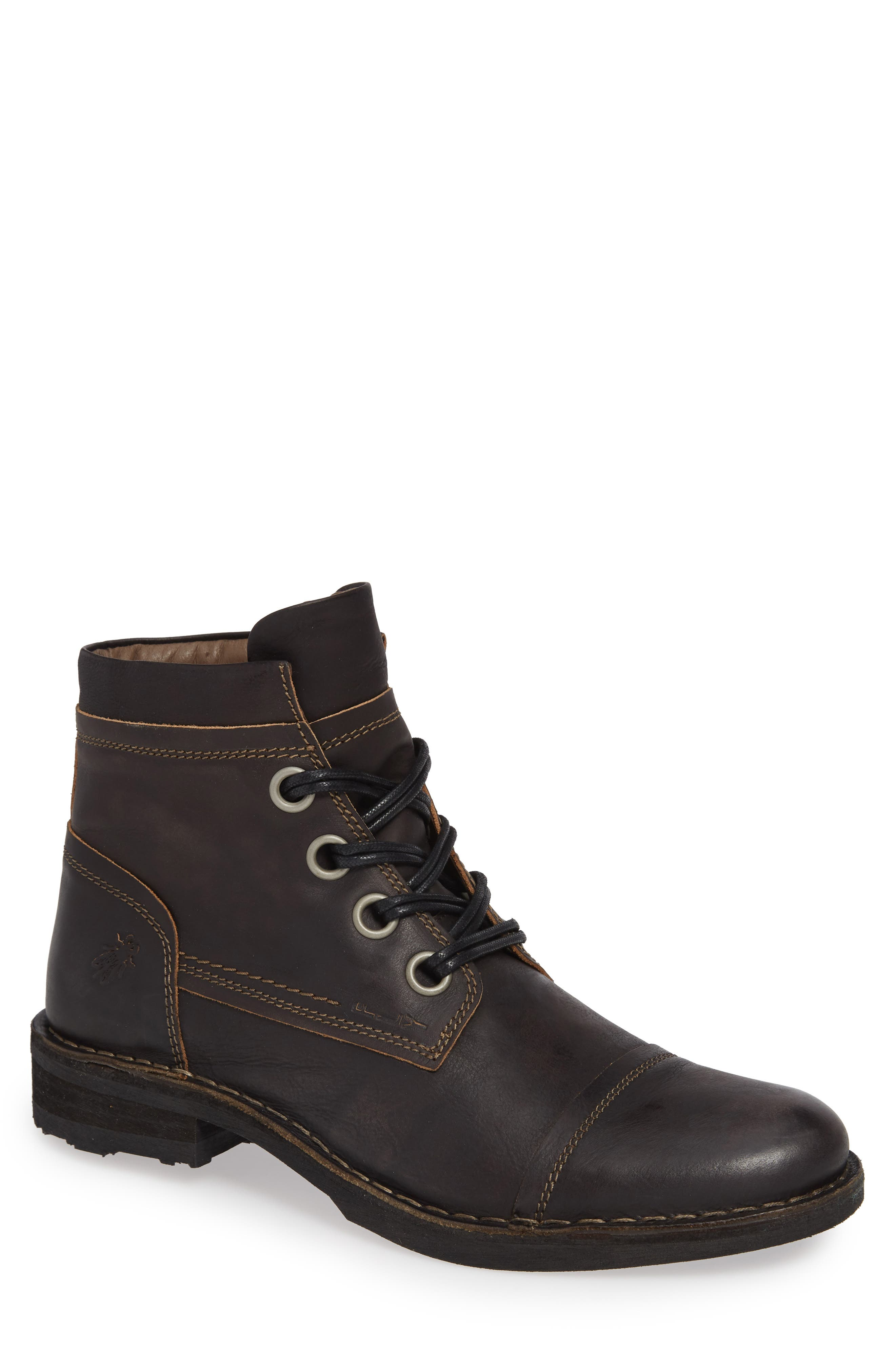 Rize Cap Toe Boot,                             Main thumbnail 1, color,                             BLACK SEBTA