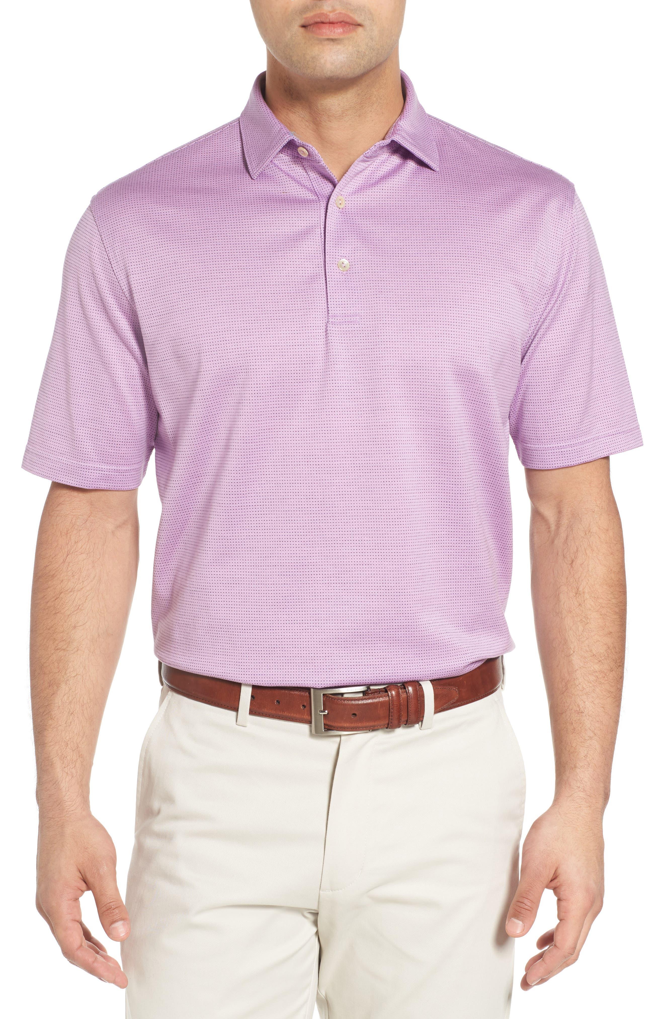 Sean Pleasant Pin Dot Jacquard Polo,                         Main,                         color, 582