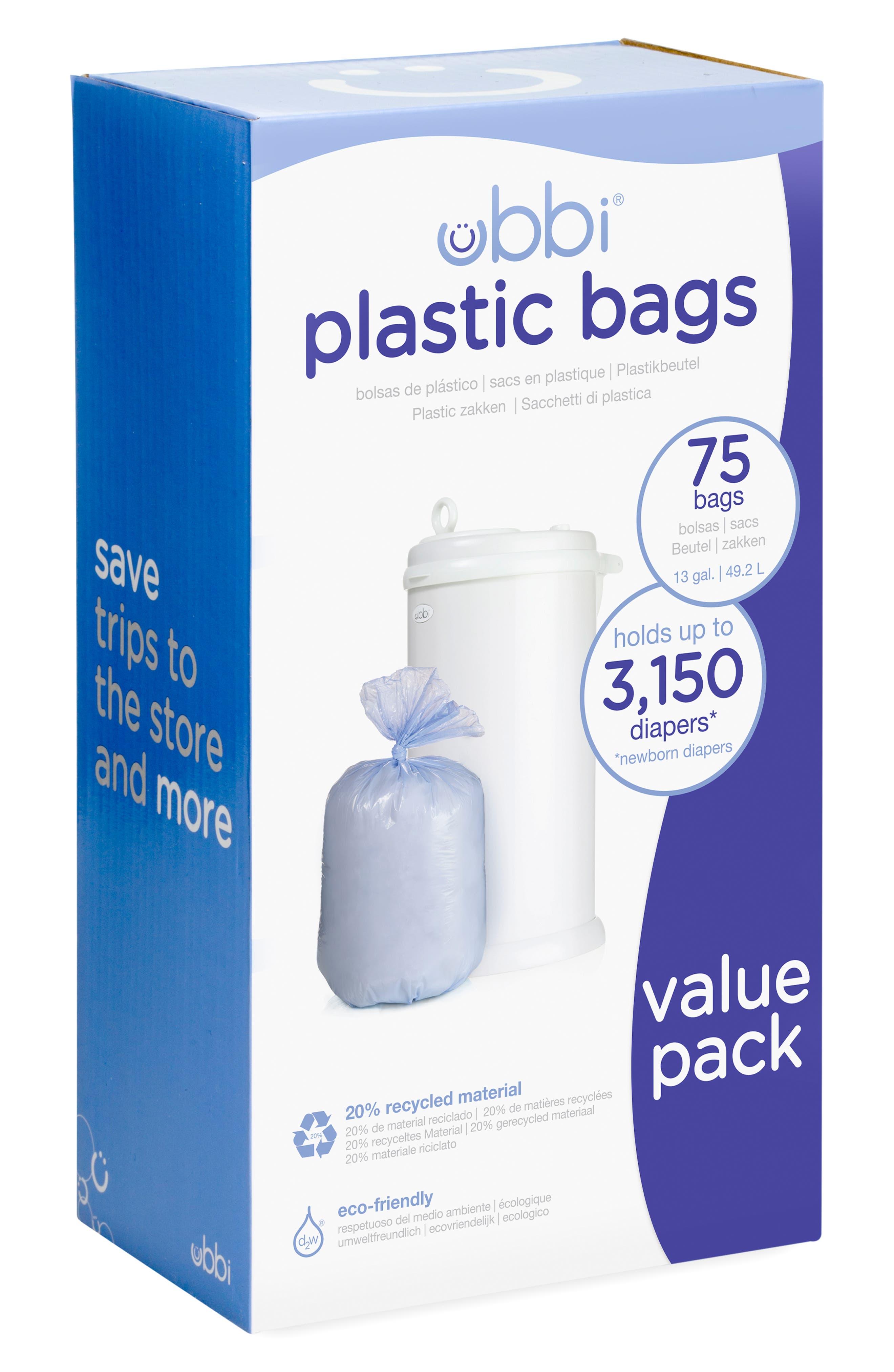 UBBI Diaper Pail Plastic Bags, Main, color, PURPLE