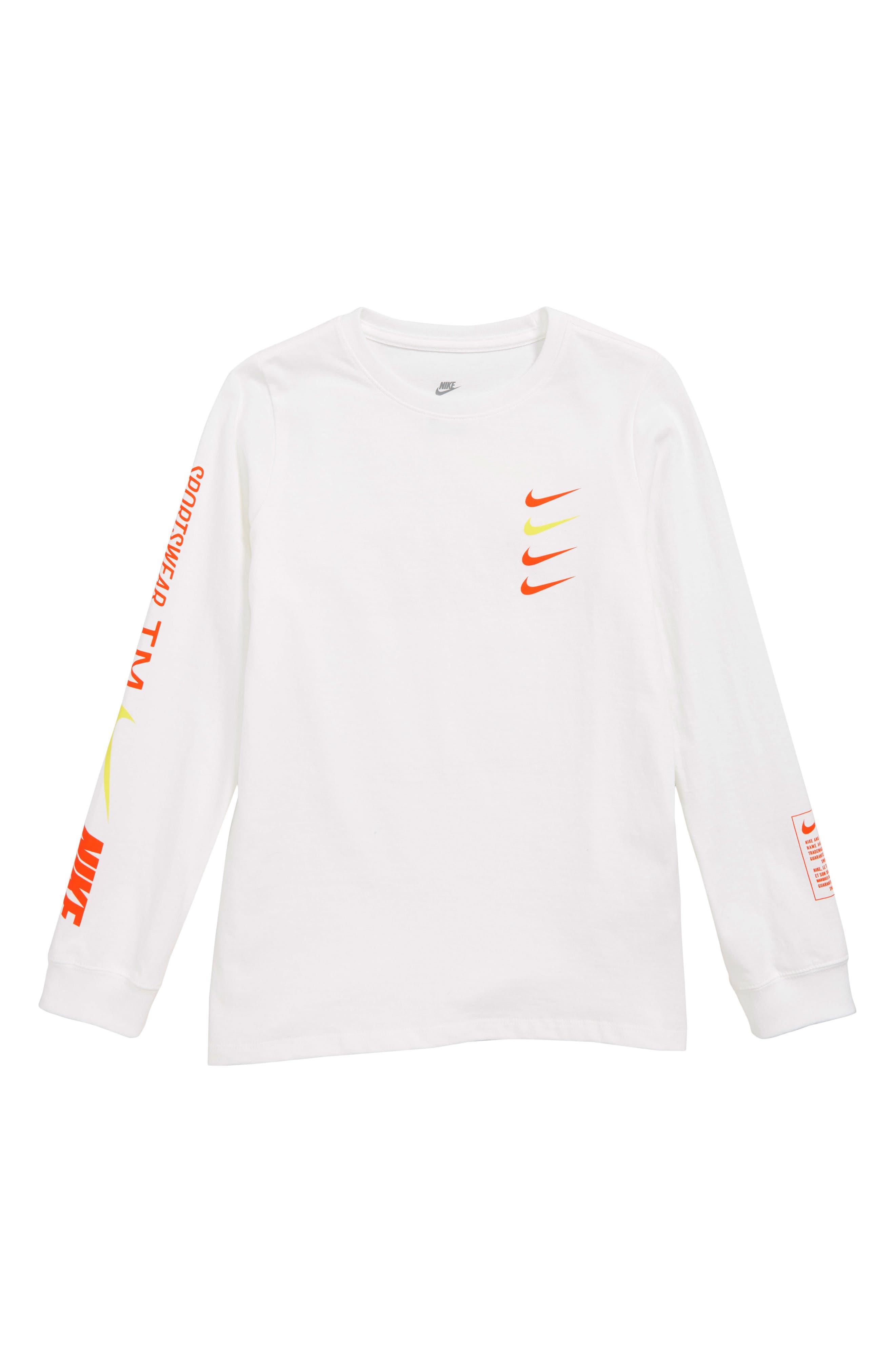 Sportswear Logo T-Shirt,                         Main,                         color, WHITE