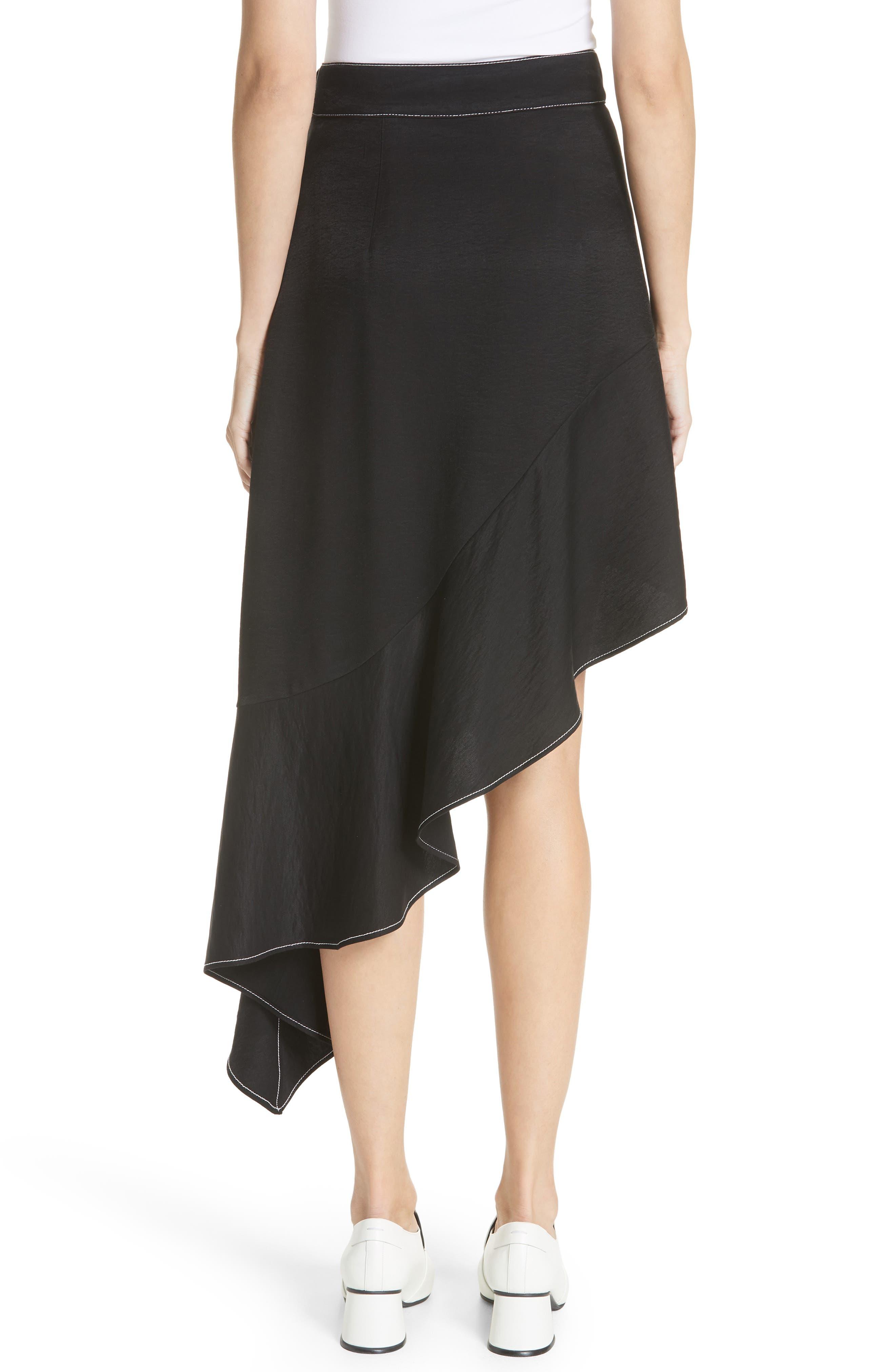 Ella Asymmetrical Ruffle Skirt,                             Alternate thumbnail 2, color,                             001