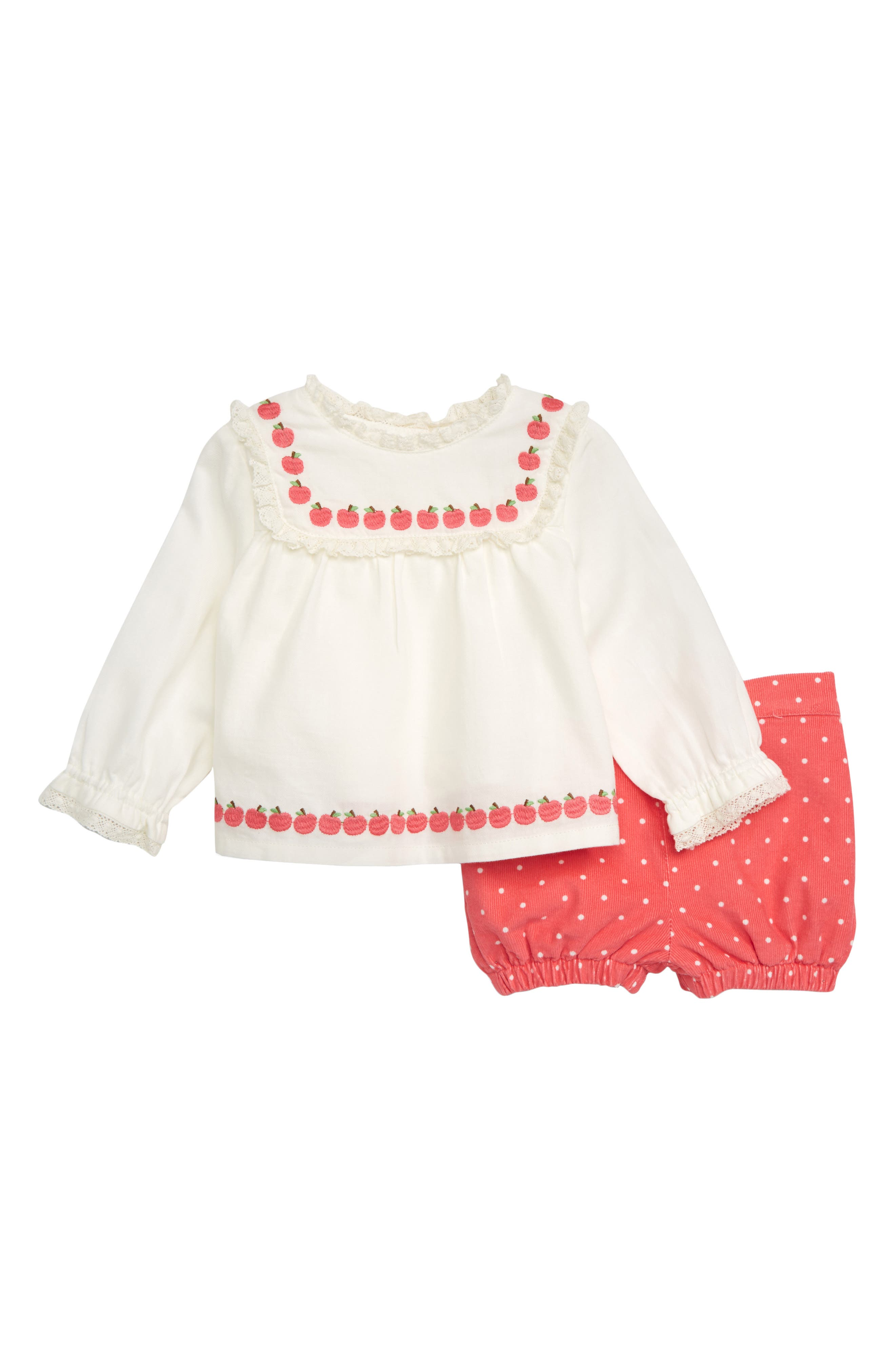 Toddler Girls Mini Boden Pretty Woven Top  Bloomers Set