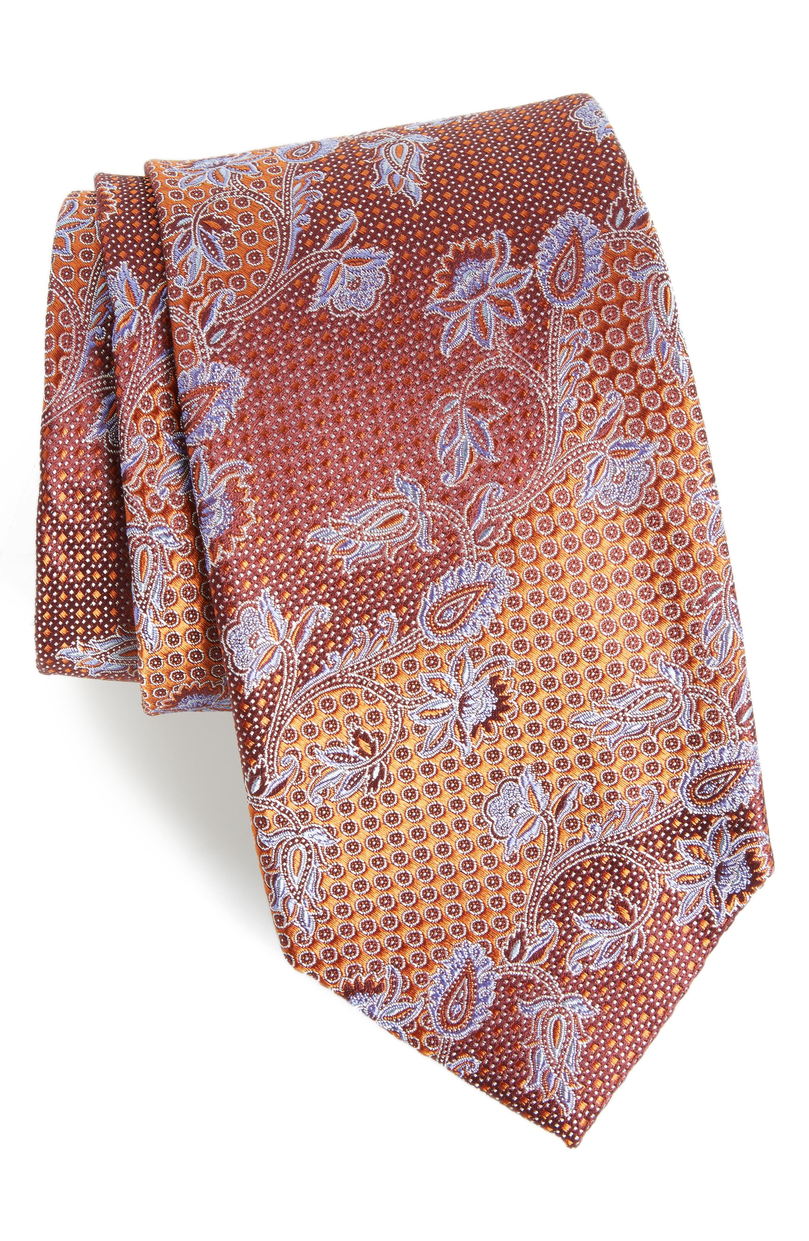 Demarco Floral Silk Tie,                         Main,                         color, 808