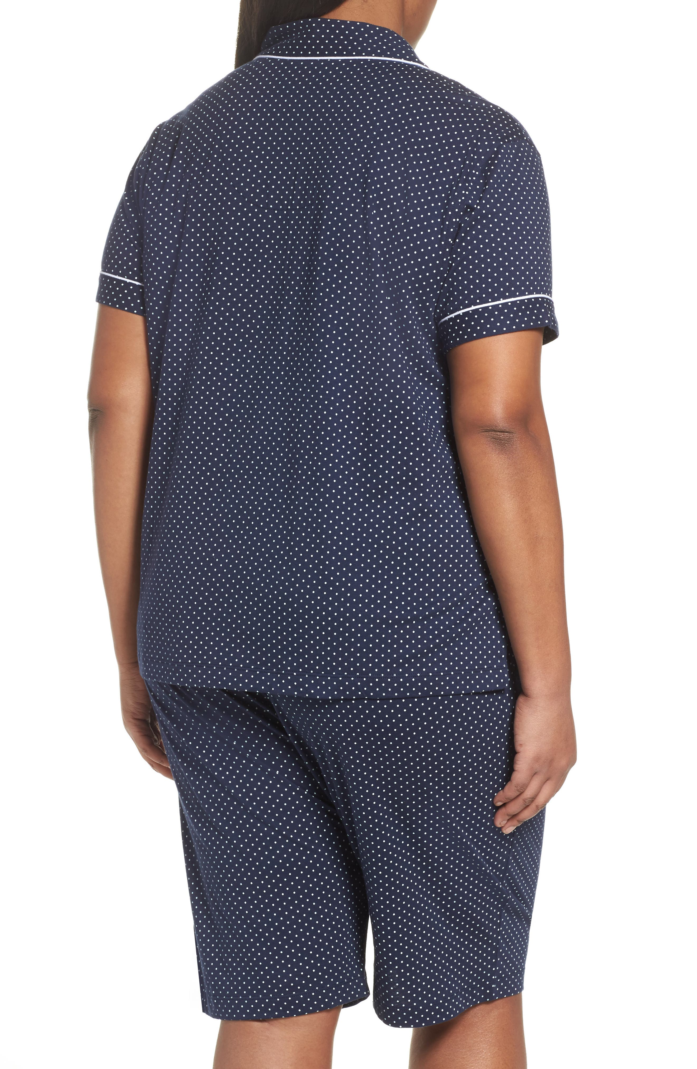 LAUREN RALPH LAUREN,                             Bermuda Pajamas,                             Alternate thumbnail 2, color,                             NAVY DOT