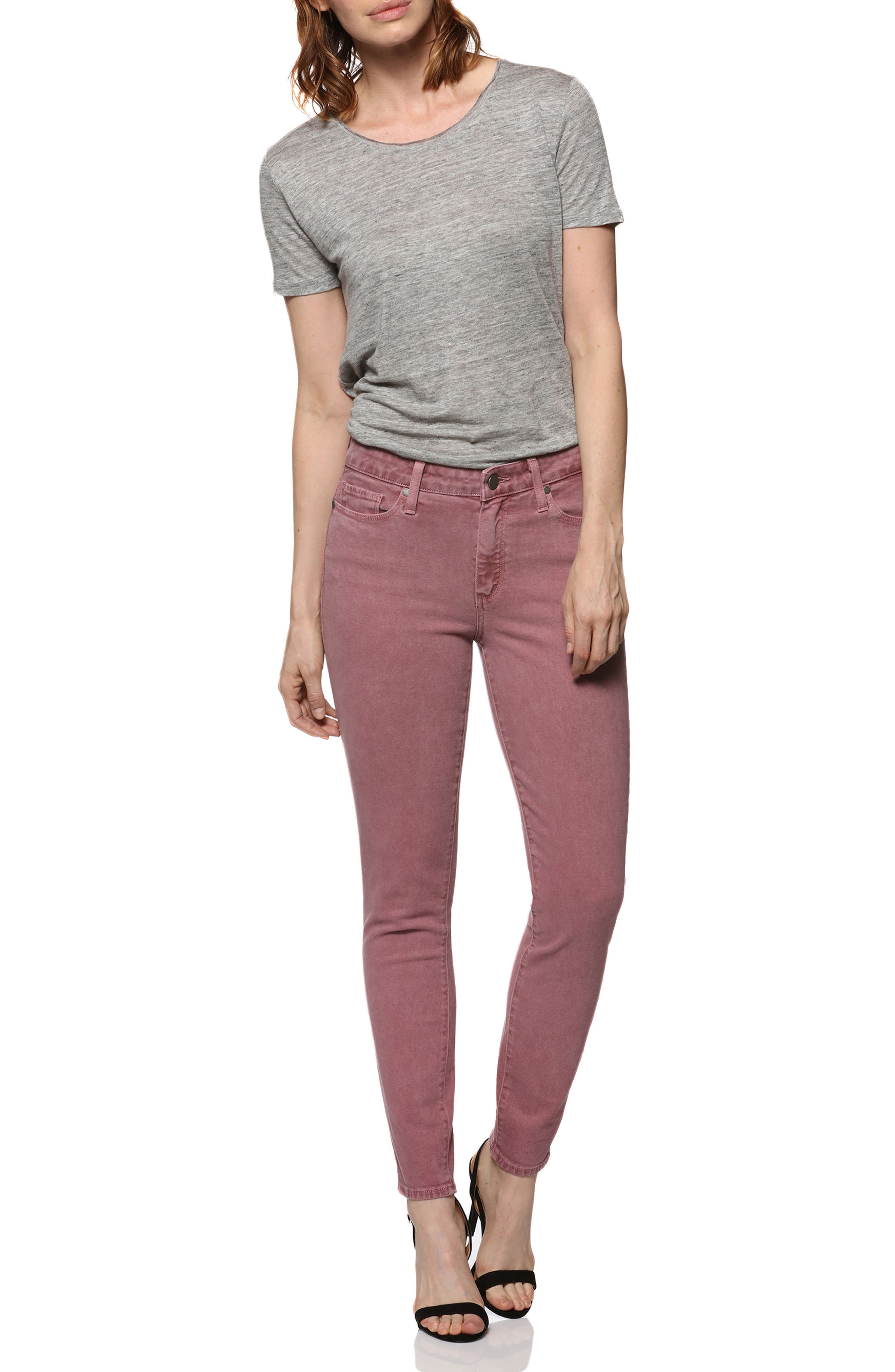 Hoxton High Waist Ankle Ultra Skinny Jeans,                             Alternate thumbnail 3, color,                             650