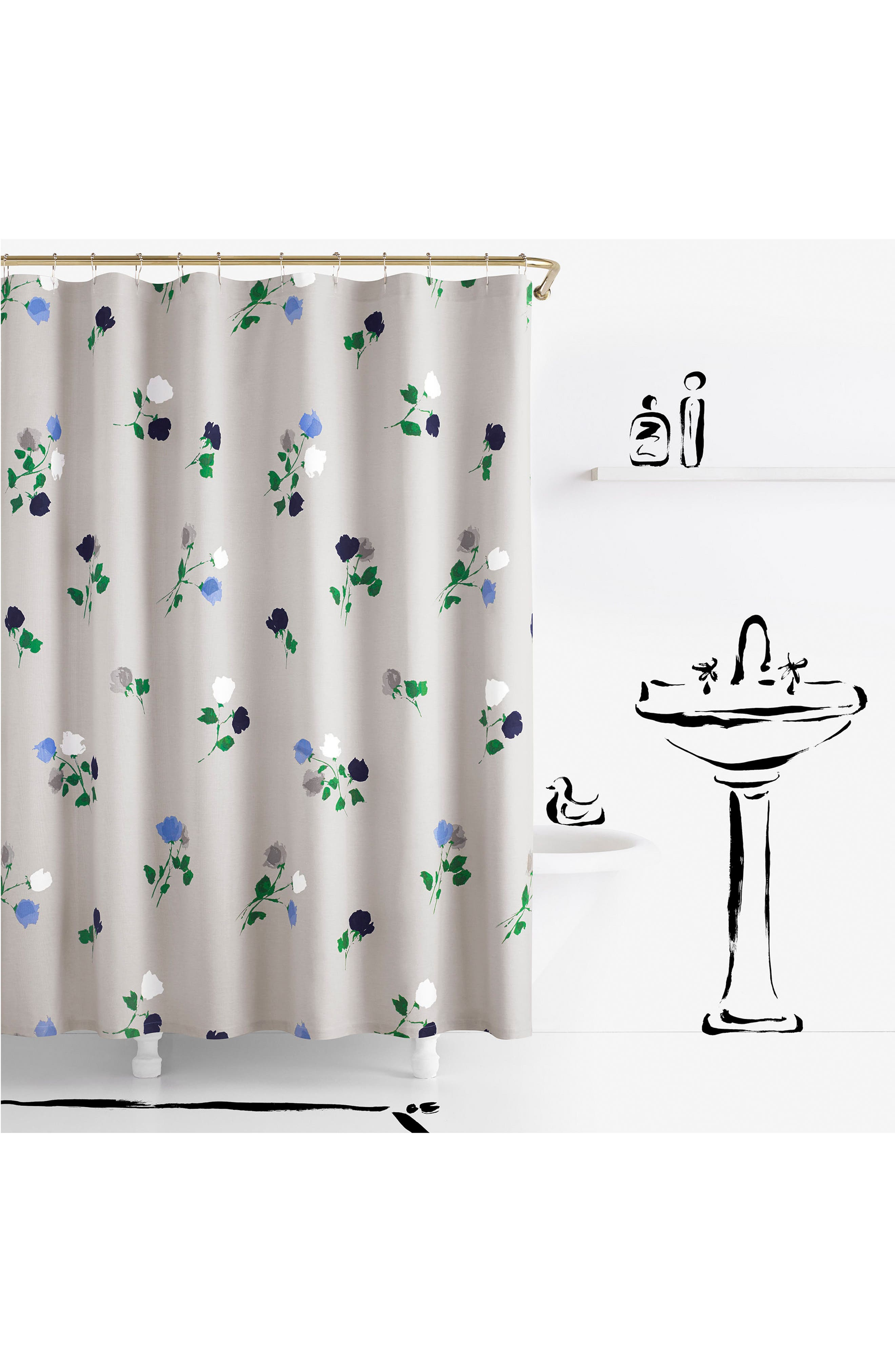 willow court shower curtain,                             Main thumbnail 1, color,                             020