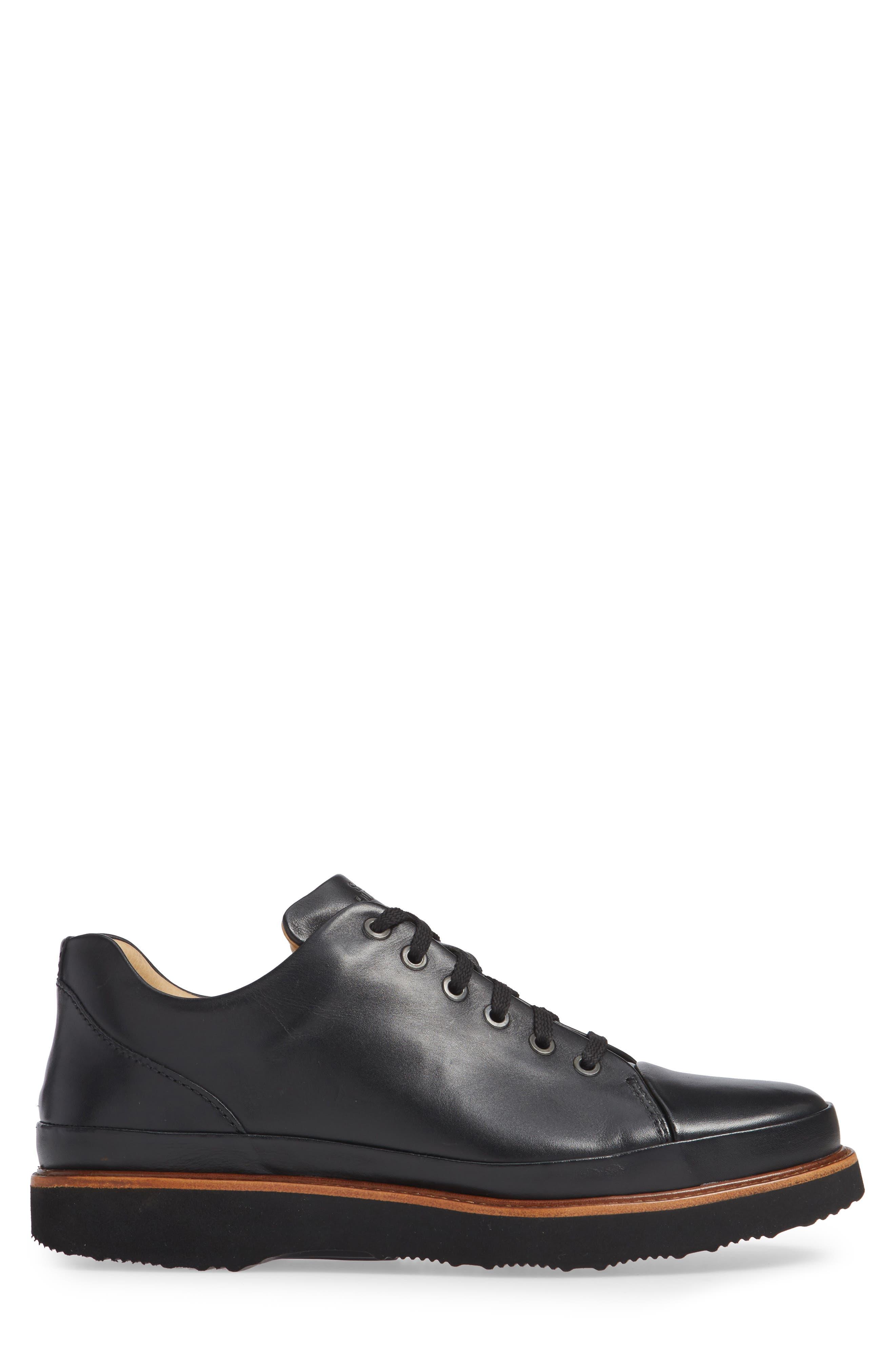 Dress Fast Plain Toe Oxford,                             Alternate thumbnail 3, color,                             BLACK/ BLACK