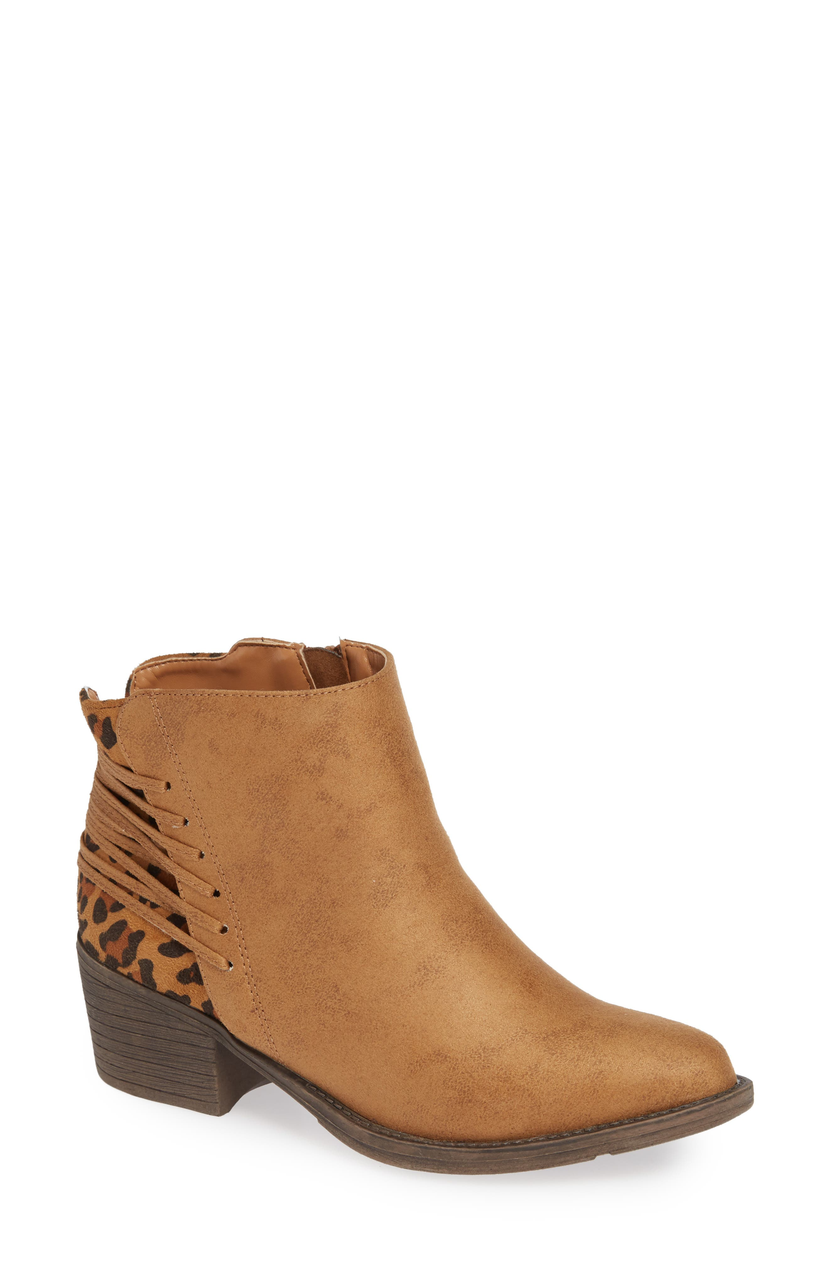 Very Volatile Griselle Strapped Bootie- Brown