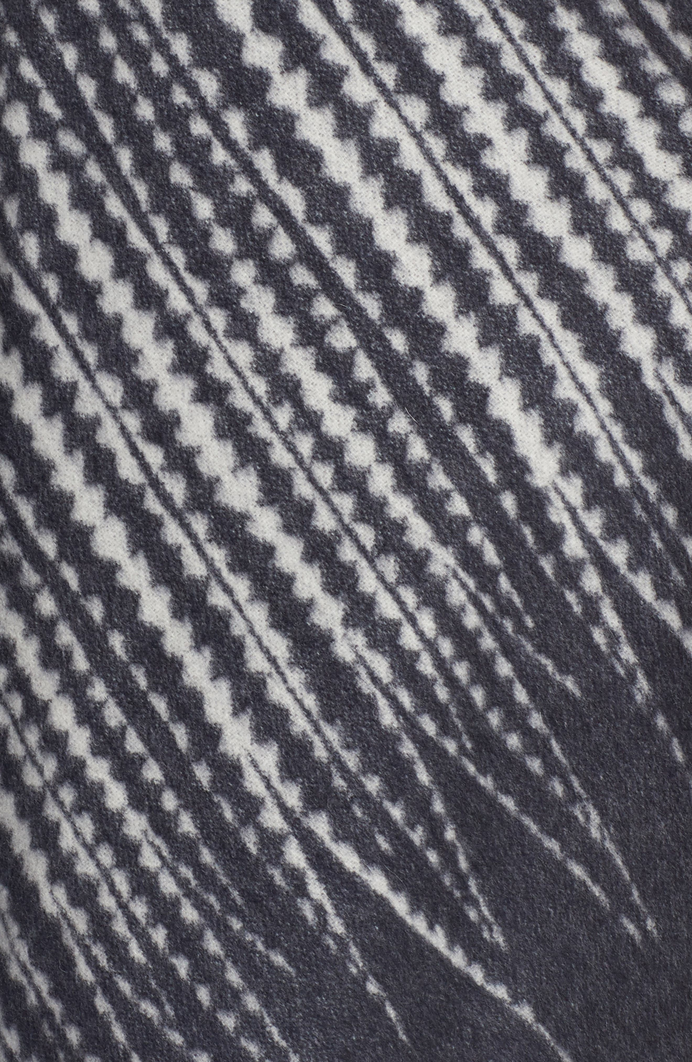 Feather Print Wool Wrap,                             Alternate thumbnail 5, color,                             400