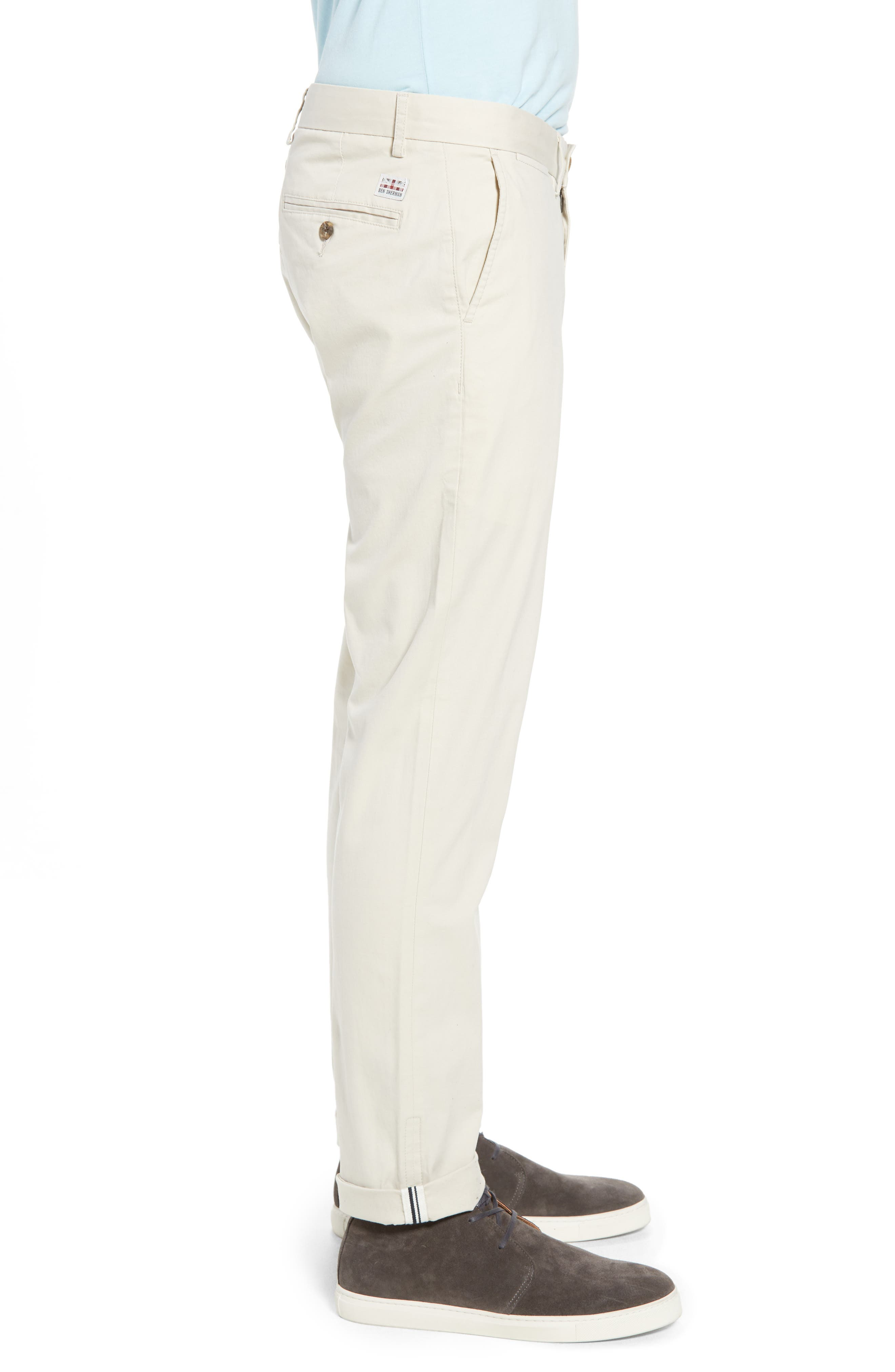 Slim Fit Stretch Chinos,                             Alternate thumbnail 3, color,                             270