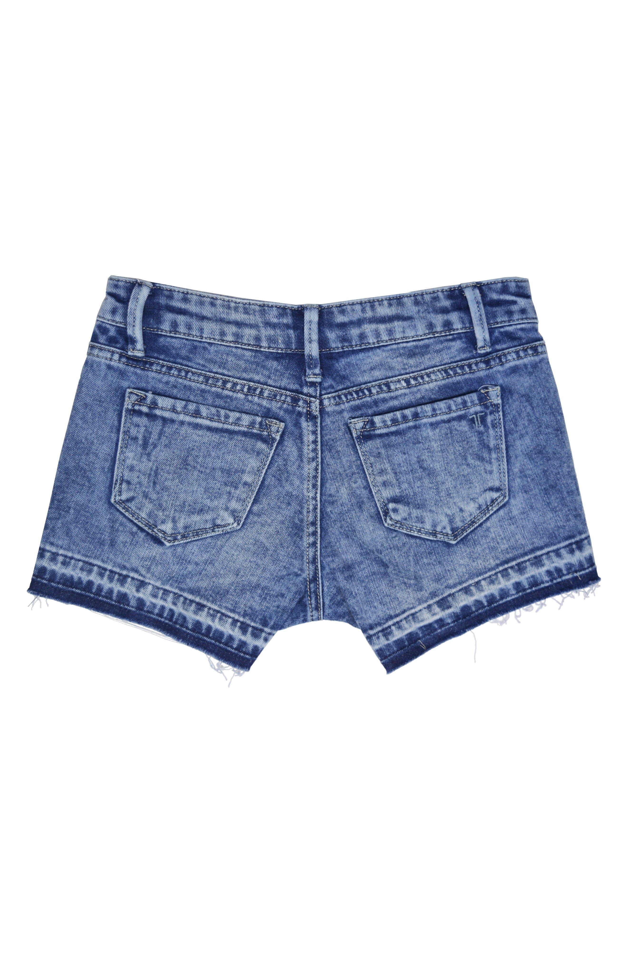 Step Hem Cutoff Denim Shorts,                             Alternate thumbnail 2, color,                             416