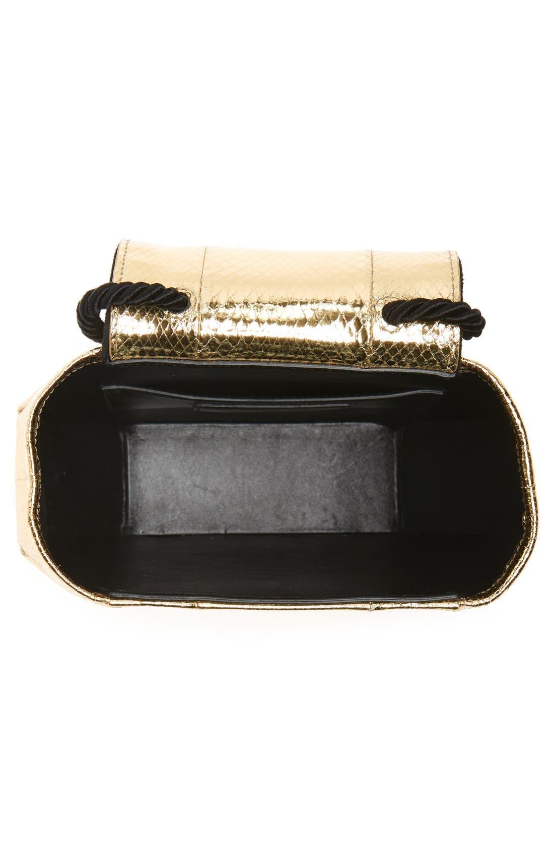 'Opium' Genuine Snakeskin & Leather Saddle Bag,                             Alternate thumbnail 6, color,                             716