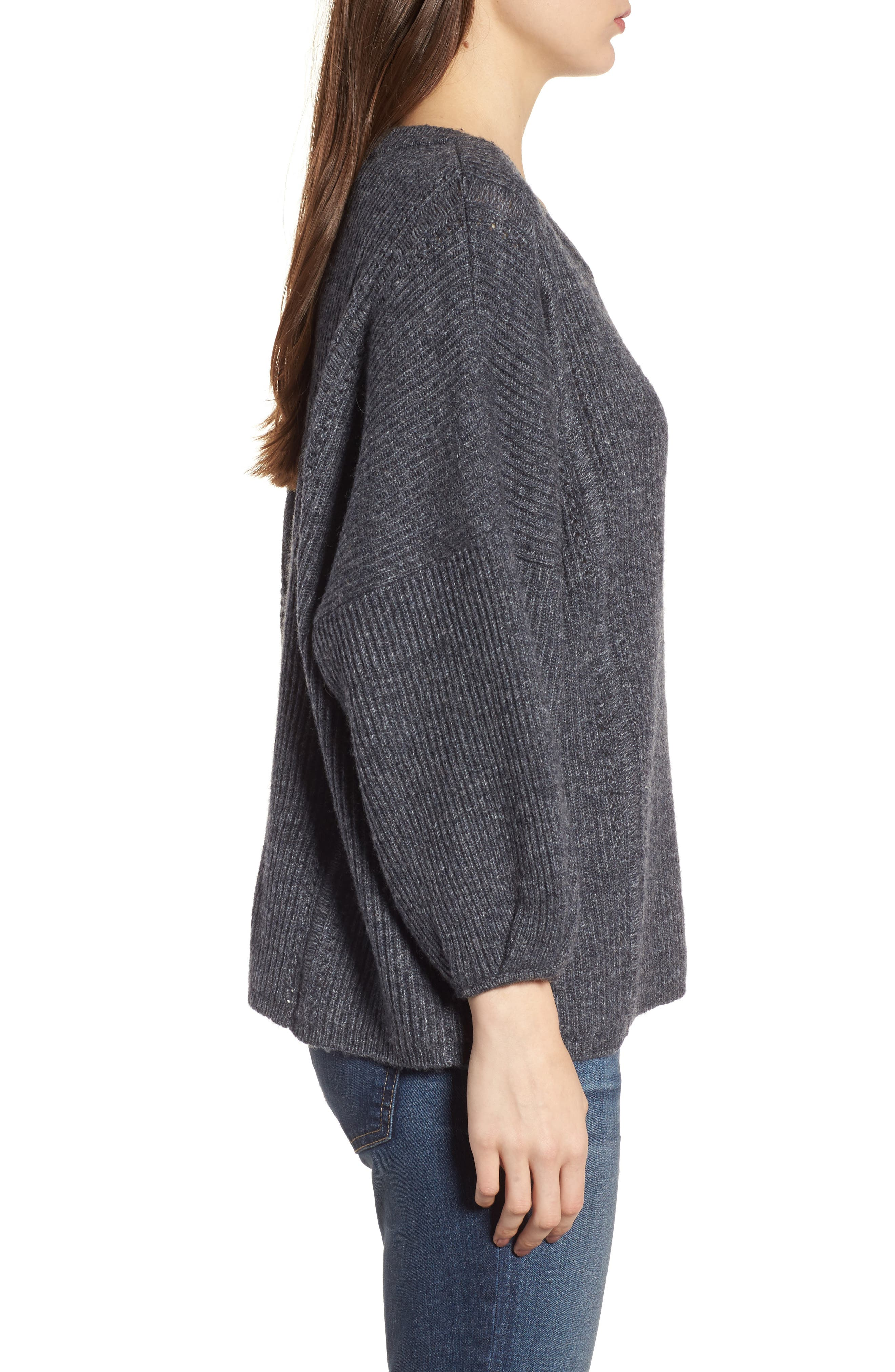 Delfina Ribbed Sweater,                             Alternate thumbnail 3, color,                             039