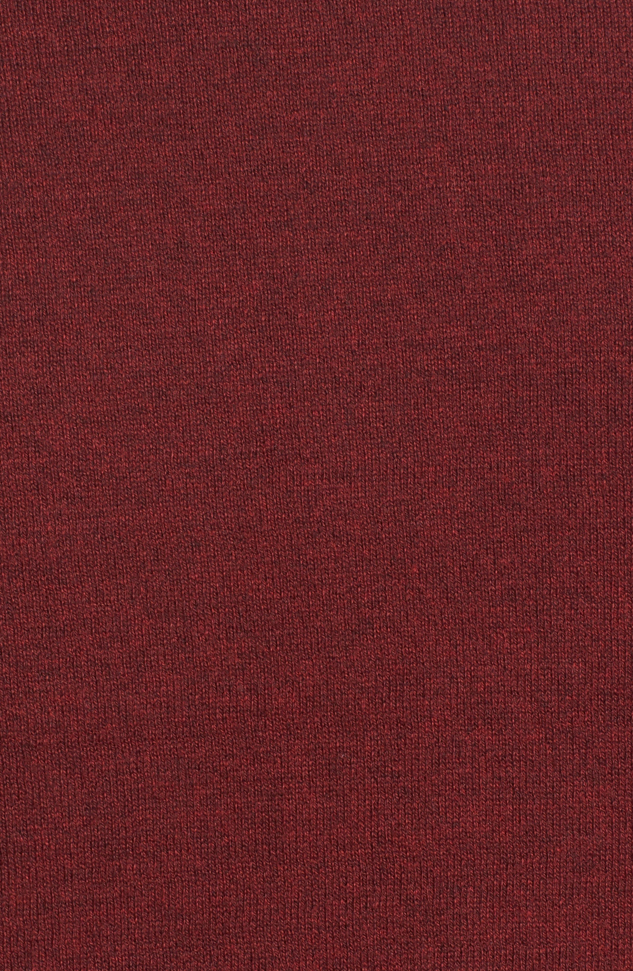 Saddle Shoulder Cotton & Cashmere V-Neck Sweater,                             Alternate thumbnail 40, color,