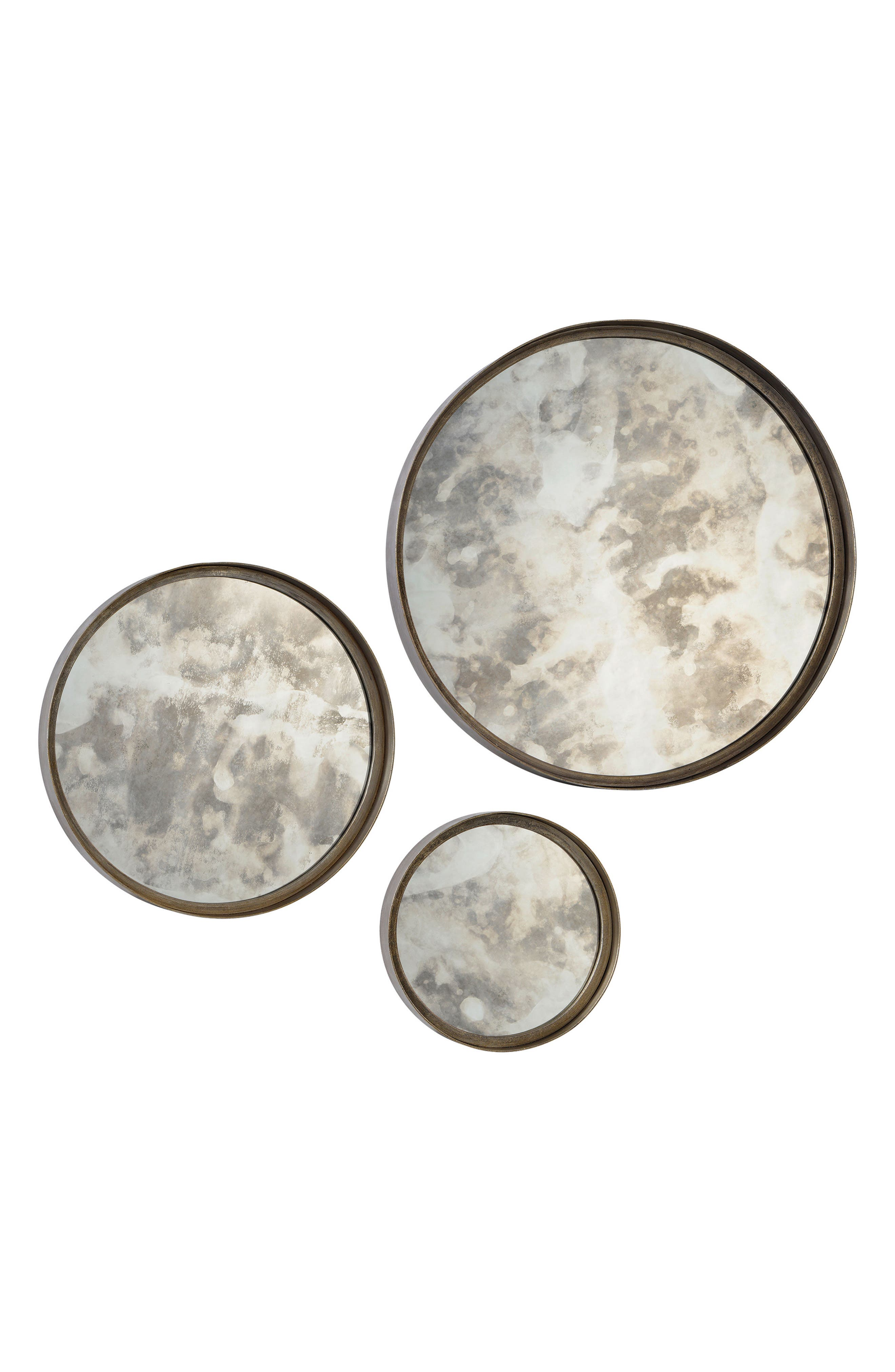 Shire Set of 3 Mirrors,                             Main thumbnail 1, color,                             ANTIQUE SILVER