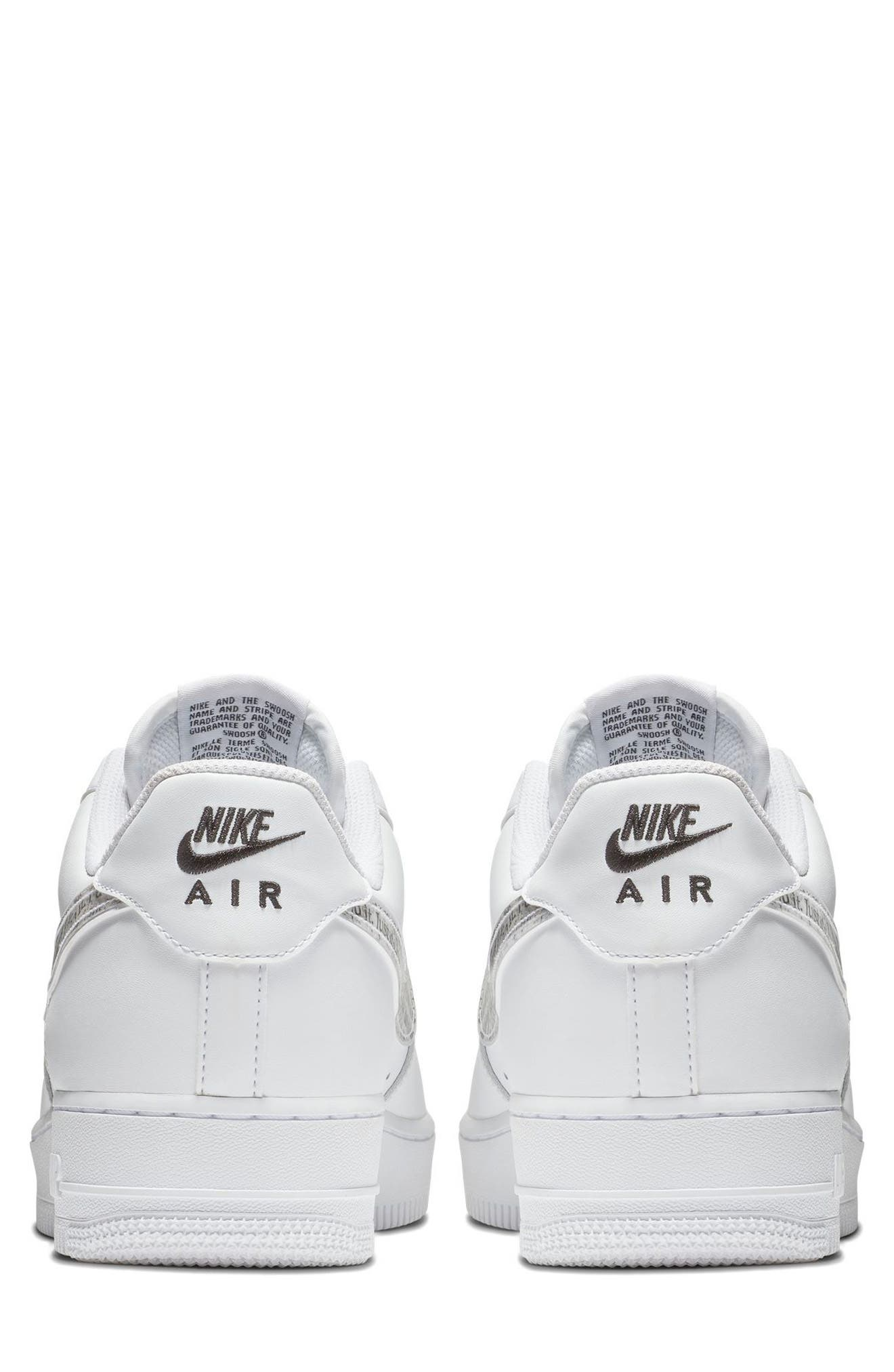 Air Force 1 '07 LV8 Just Do It Sneaker,                             Alternate thumbnail 6, color,                             100