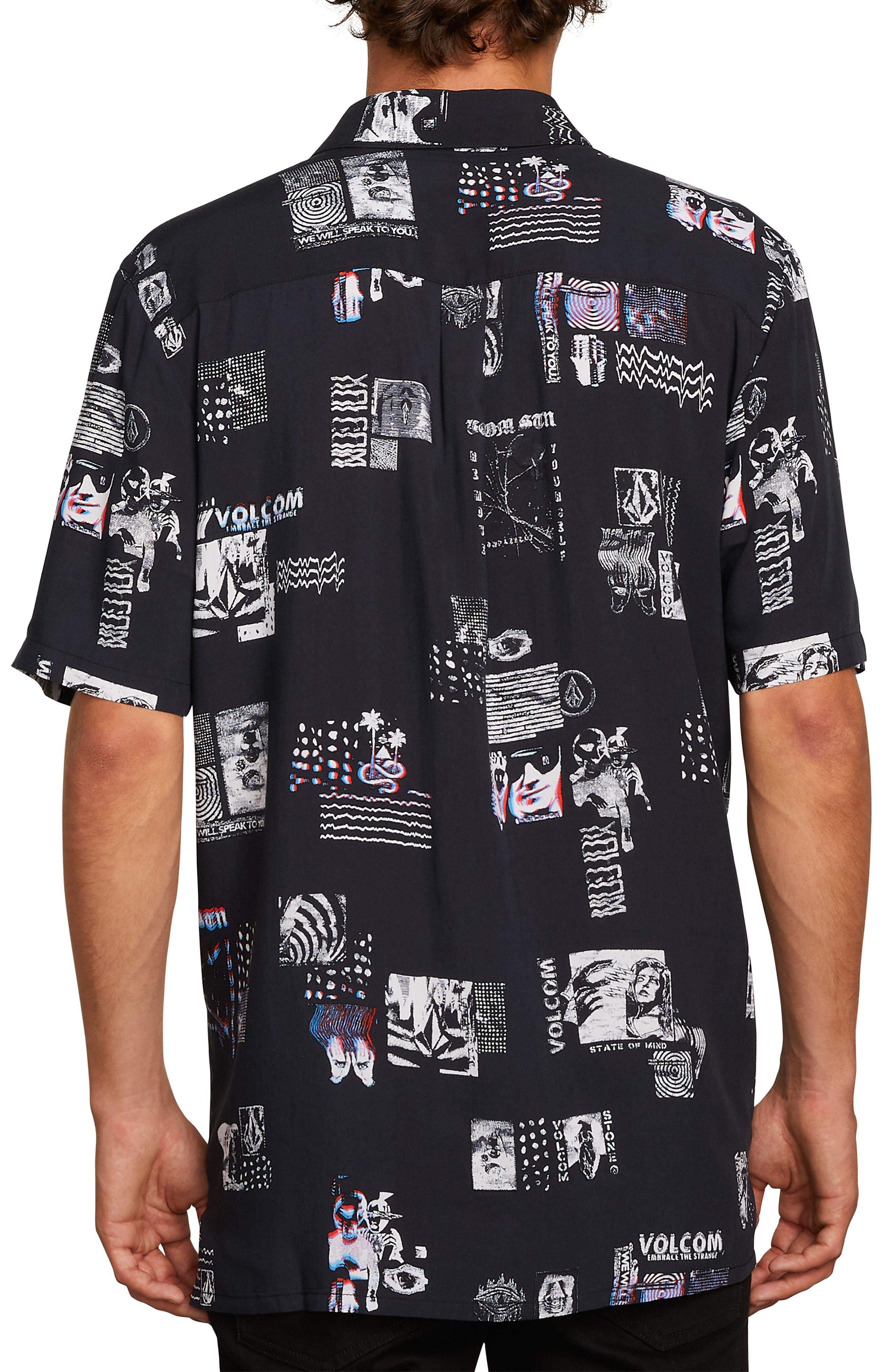 Speak to You Woven Shirt,                             Alternate thumbnail 2, color,                             BLACK