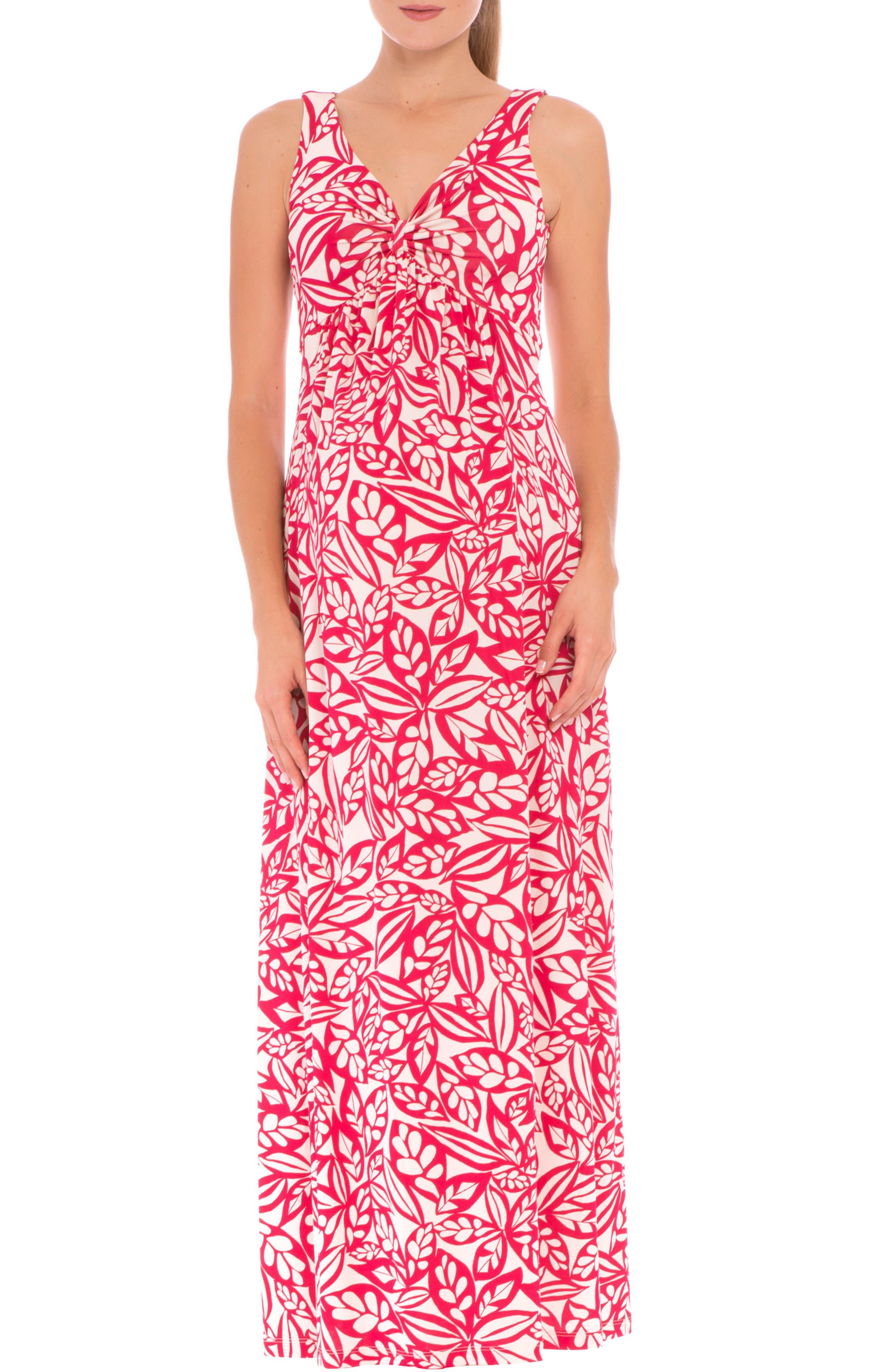 'Miranda' Maternity Maxi Dress,                             Alternate thumbnail 4, color,                             RED