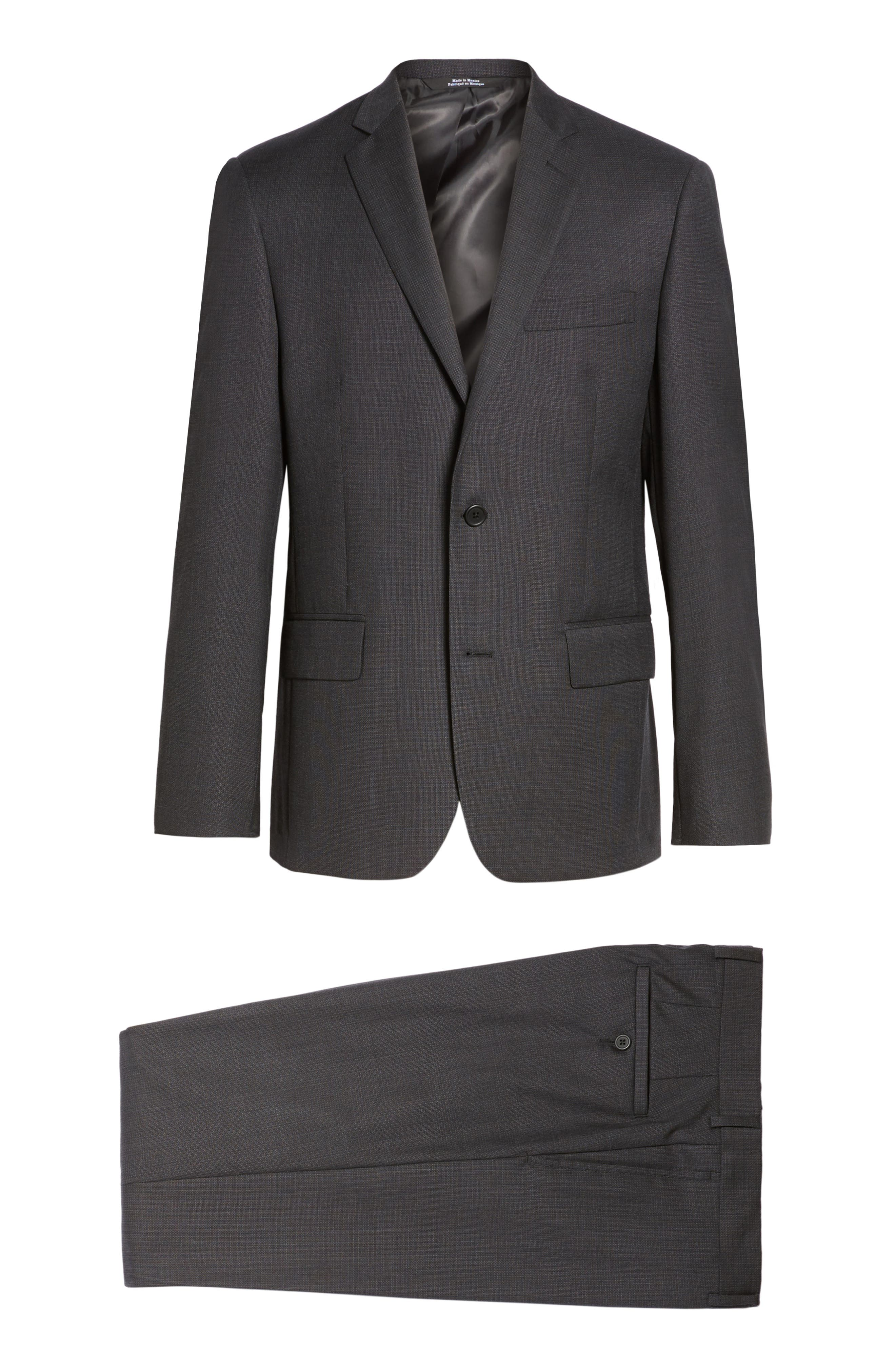 Classic Fit Solid Wool Suit,                             Alternate thumbnail 8, color,                             099