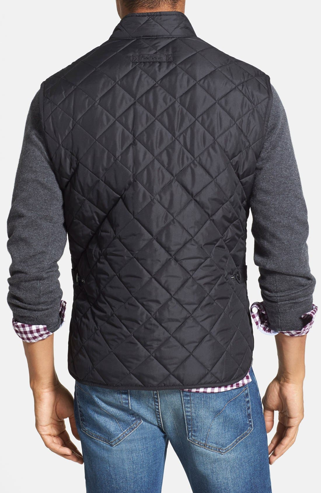 'Lowerdale' Trim Fit Quilted Vest,                             Alternate thumbnail 3, color,                             001