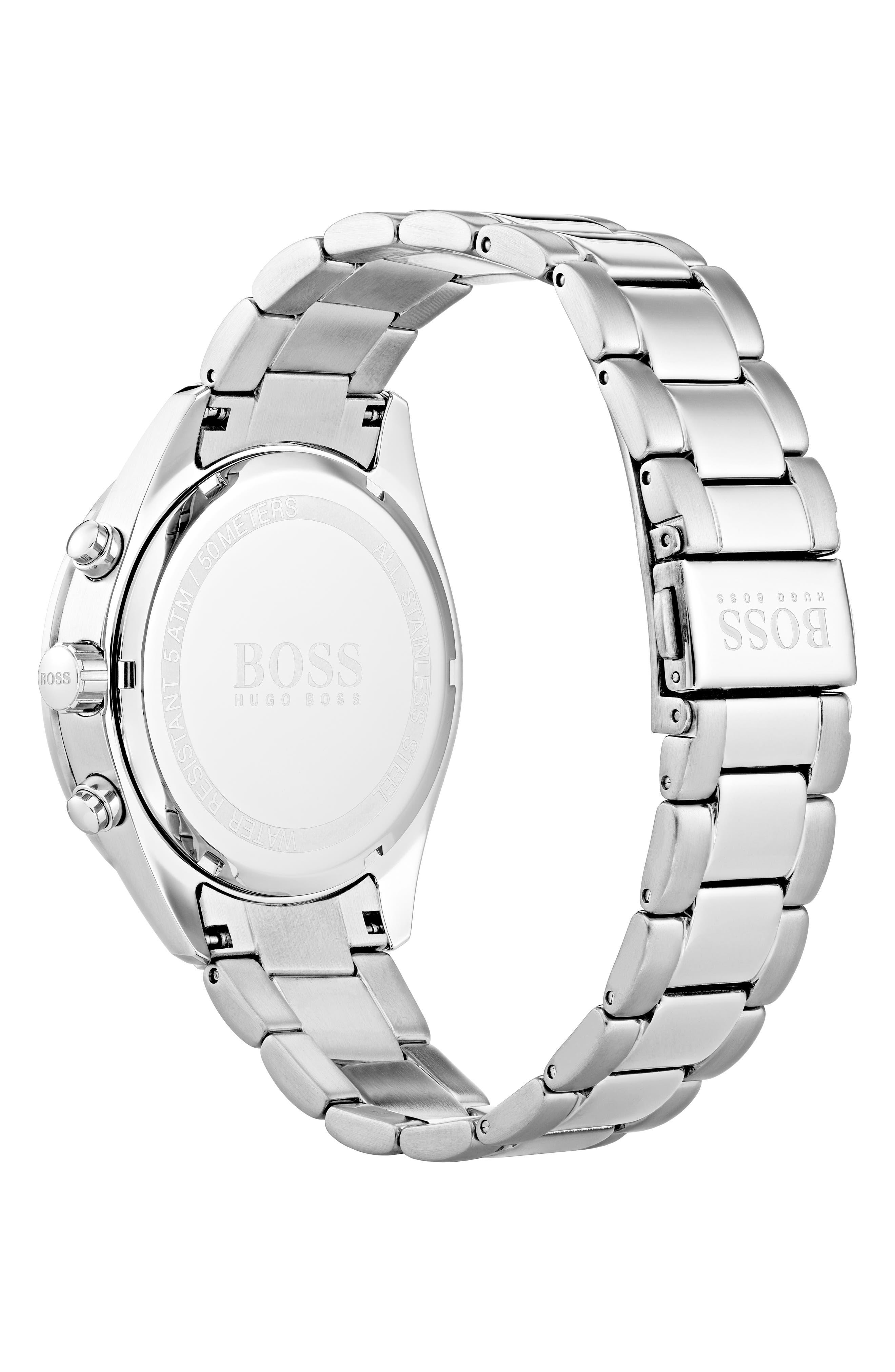 BOSS,                             Talent Chronograph Bracelet Watch, 42mm,                             Alternate thumbnail 2, color,                             BLUE/ STAINLESS