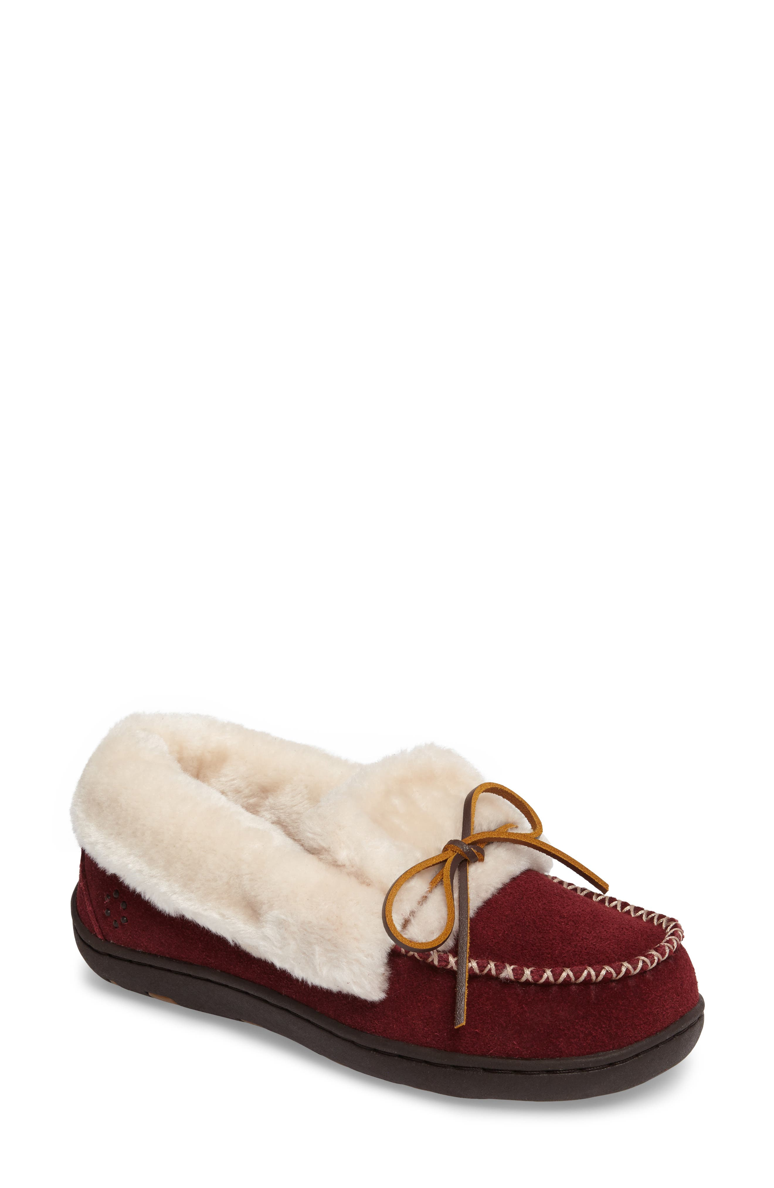 Laurin Slipper,                         Main,                         color, RUBY SUEDE