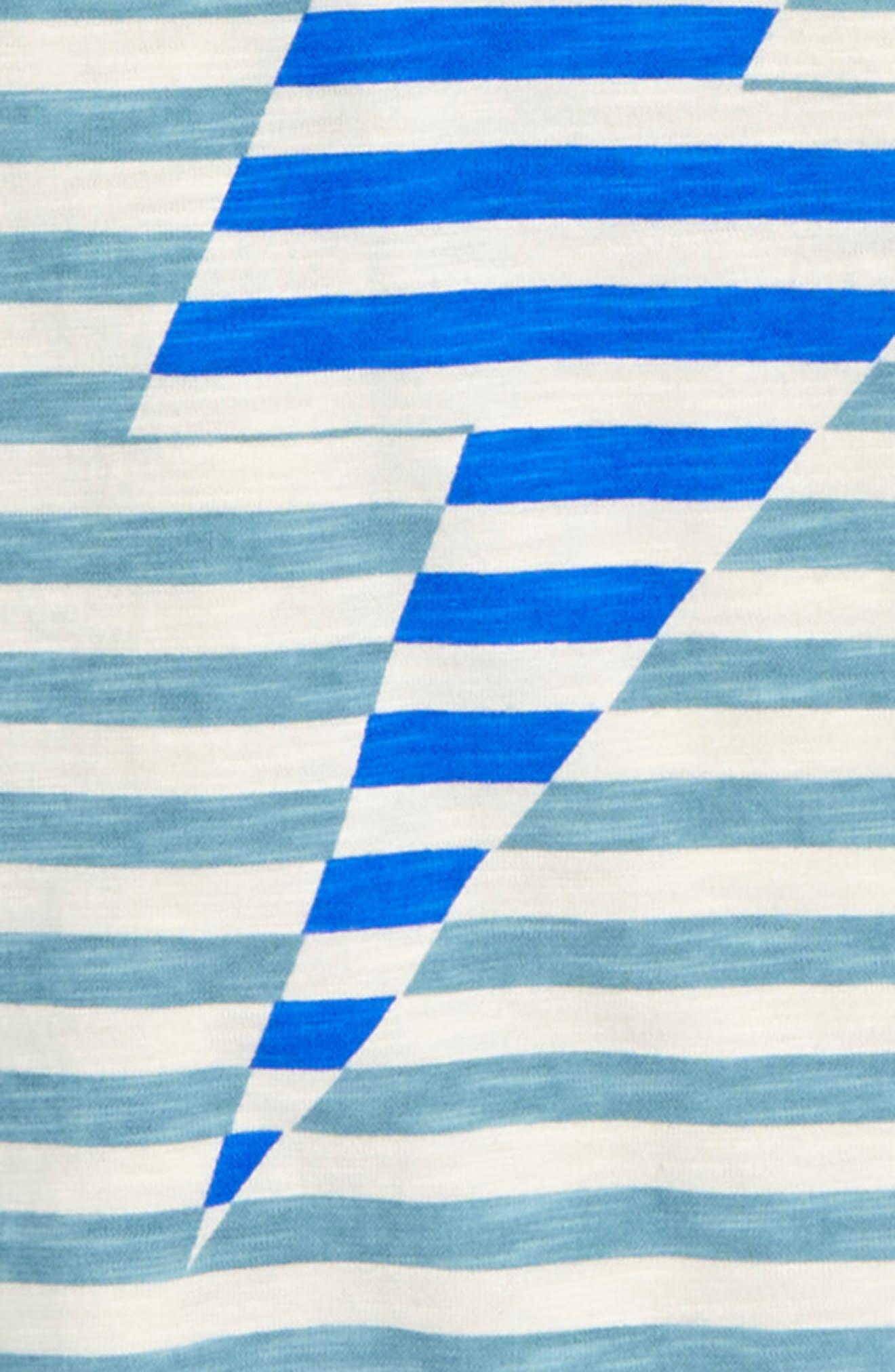Stripy Bolt Icon T-Shirt,                             Alternate thumbnail 2, color,                             DOLPHIN BLUE/ ECRU