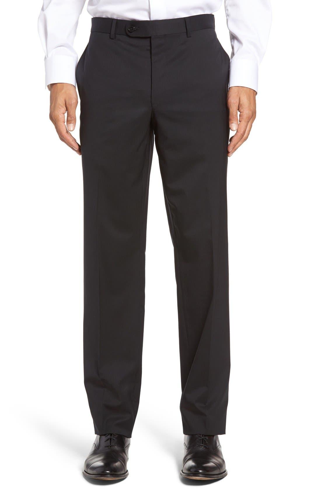 Ryan Regular Fit Wool Trousers,                             Main thumbnail 1, color,                             001