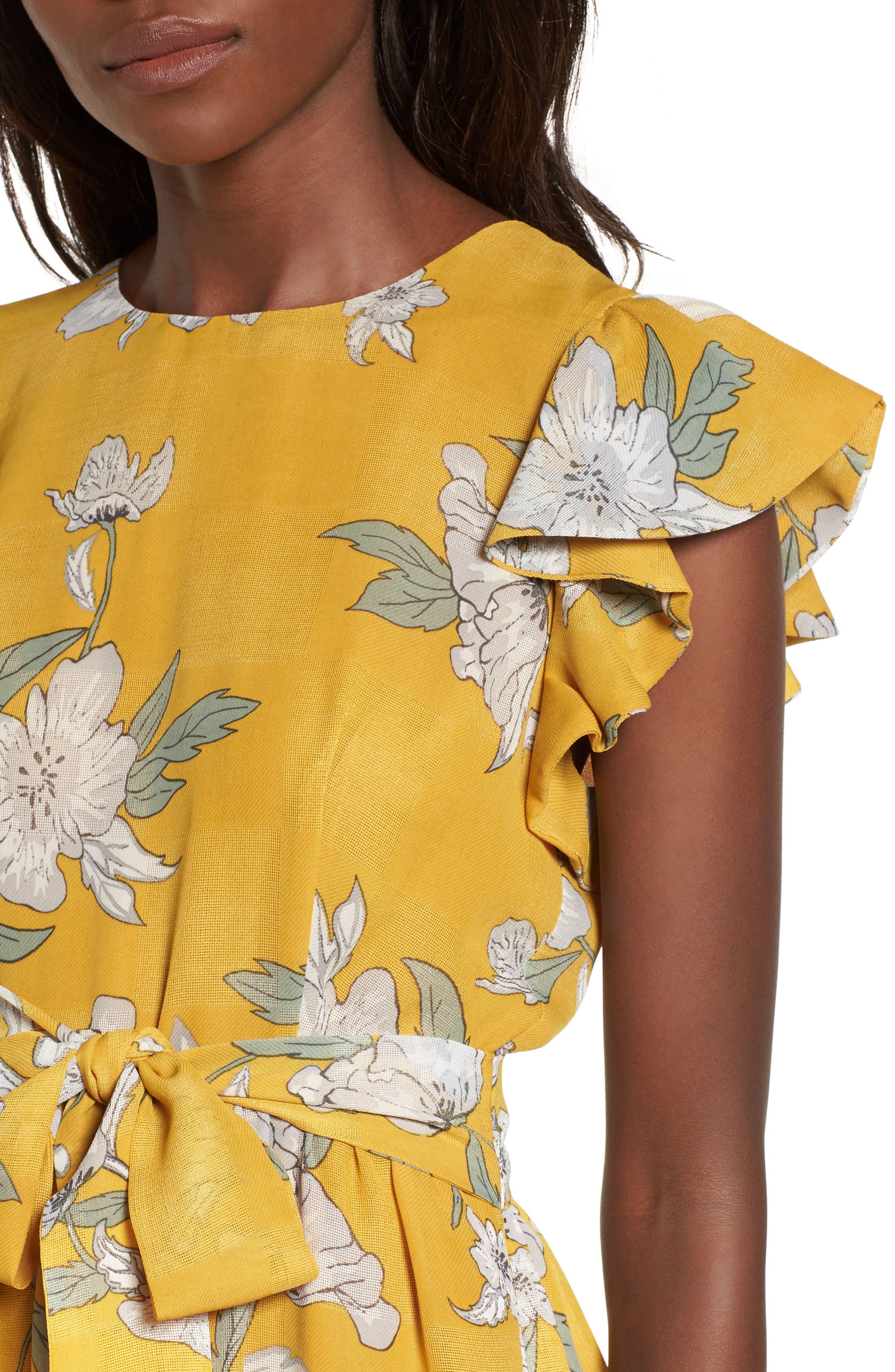Chriselle x J.O.A. Fit & Flare Dress,                             Alternate thumbnail 4, color,                             700