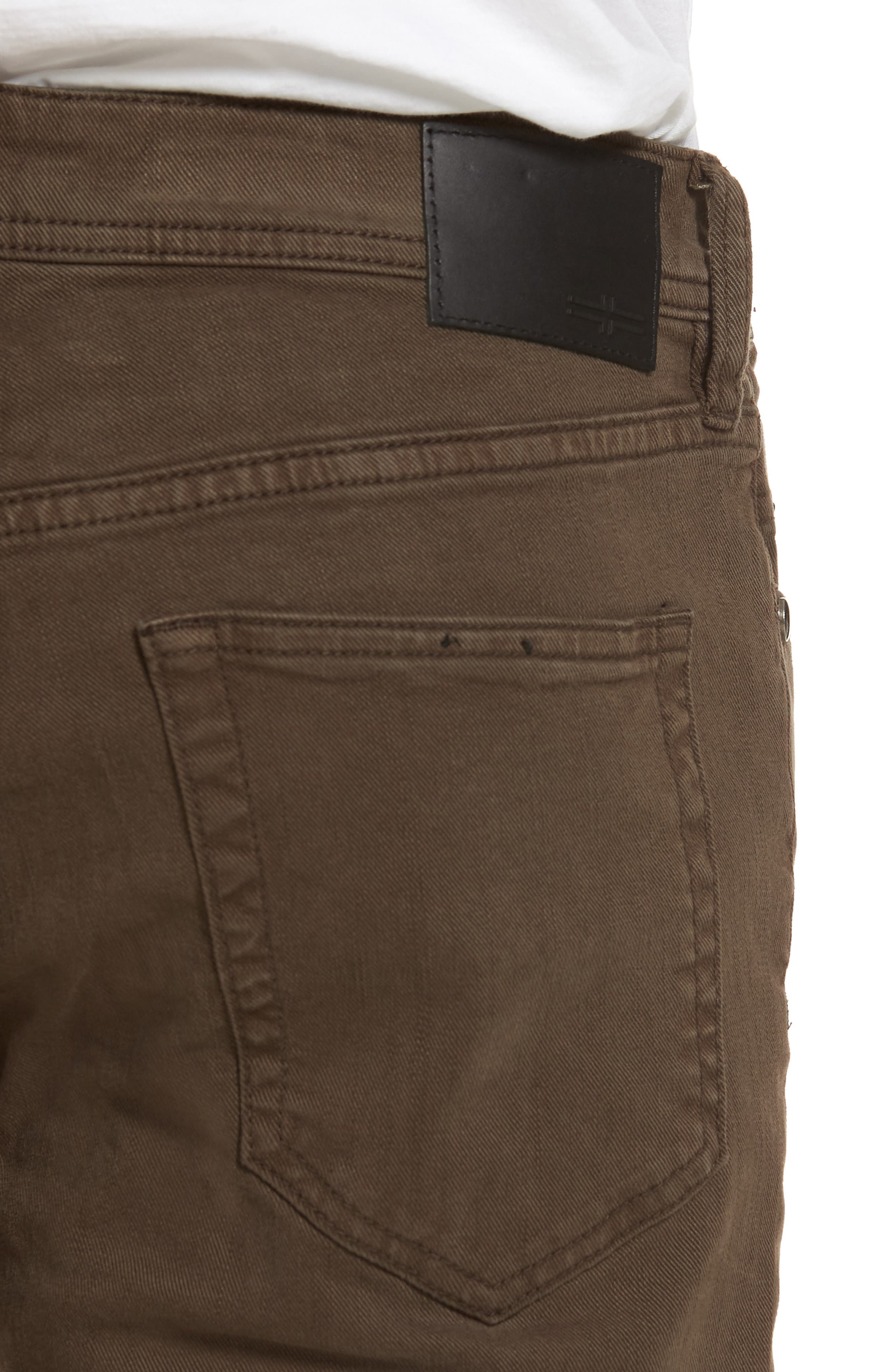Jeans Co. Kingston Slim Straight Leg Jeans,                             Alternate thumbnail 4, color,                             TOBACCO LEAF