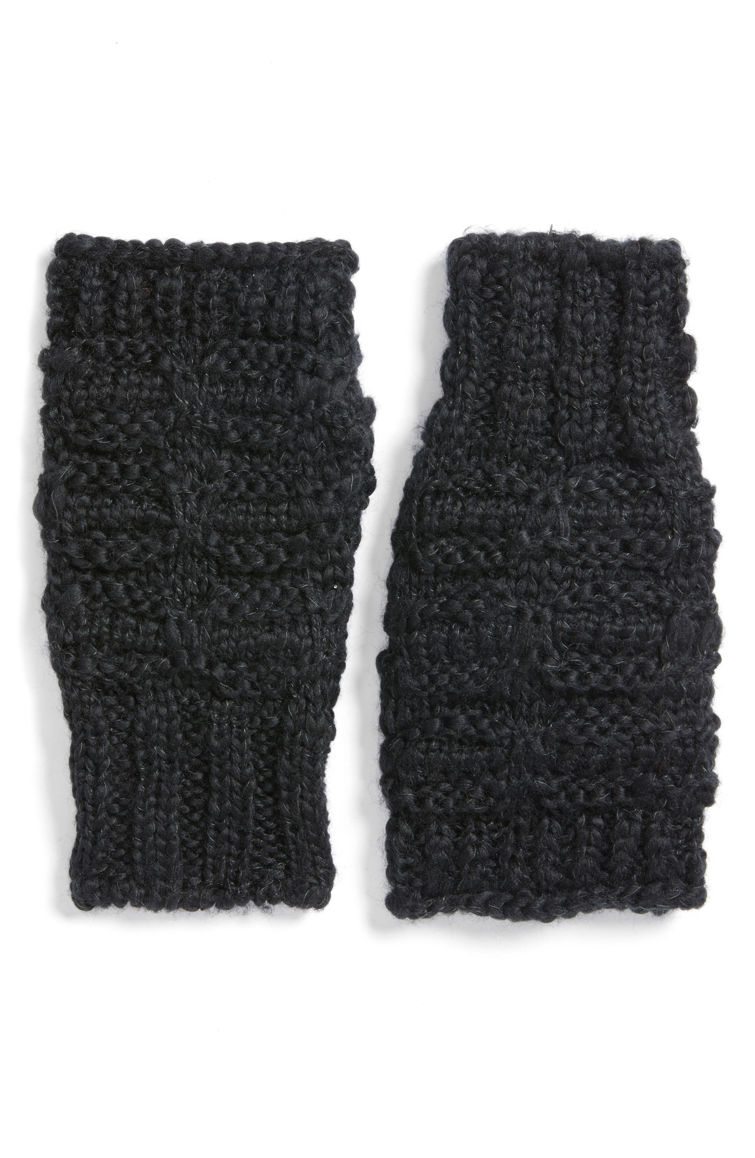 Chunky Knit Arm Warmers,                             Main thumbnail 1, color,                             001