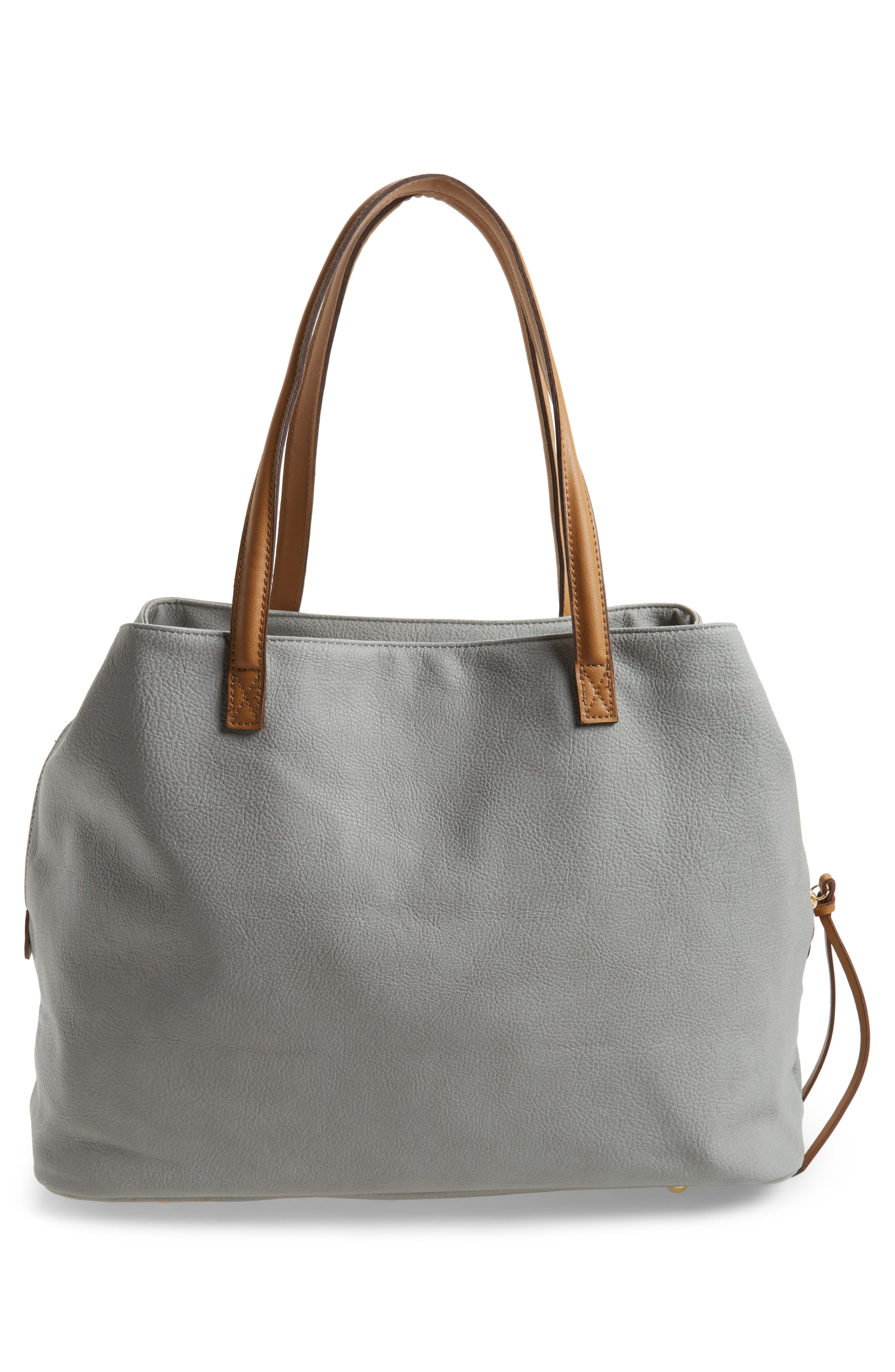 Millar Faux Leather Tote,                             Alternate thumbnail 3, color,                             020