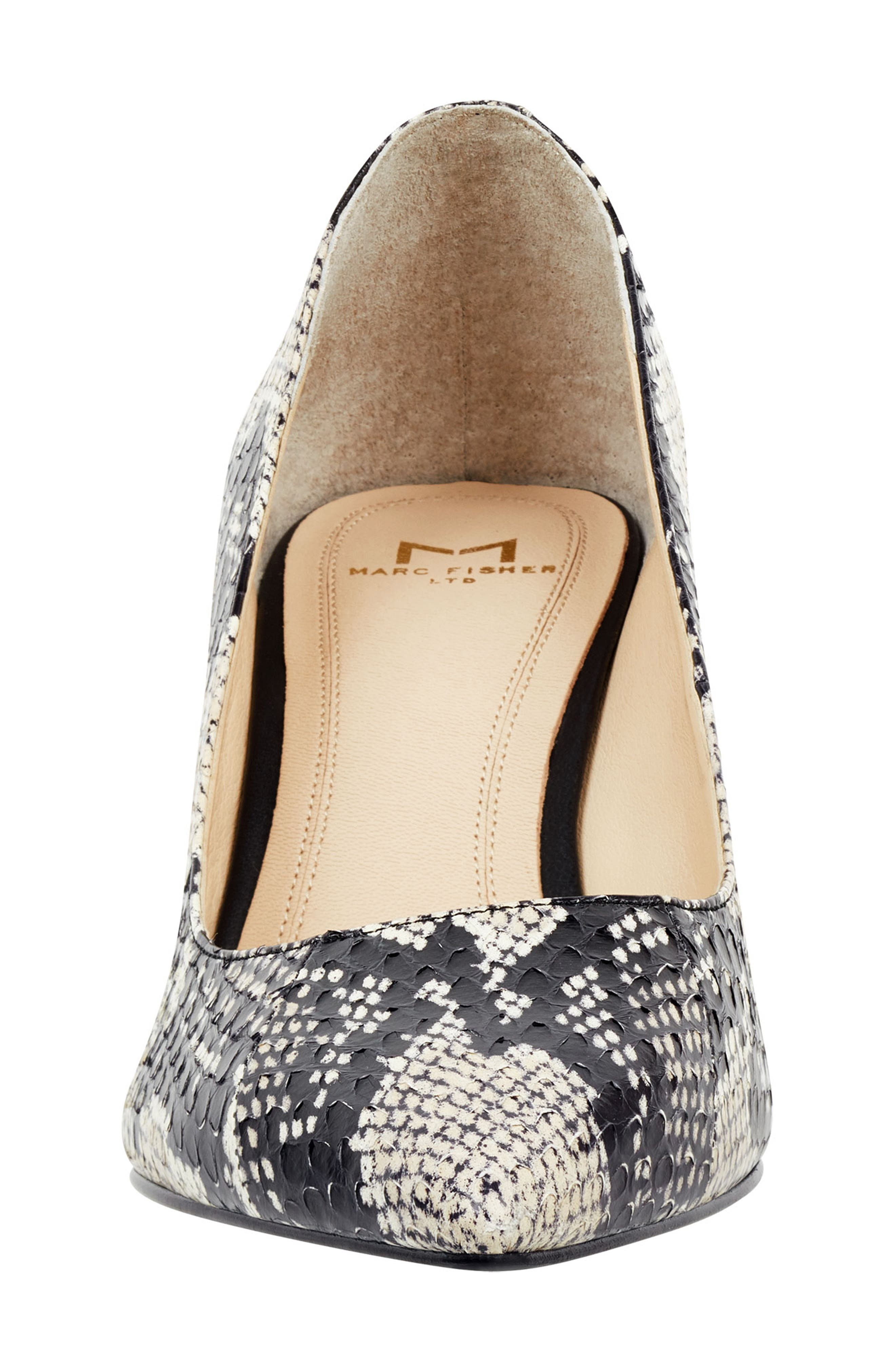 'Zala' Pump,                             Alternate thumbnail 4, color,                             BEIGE/ BLACK SNAKE PRINT