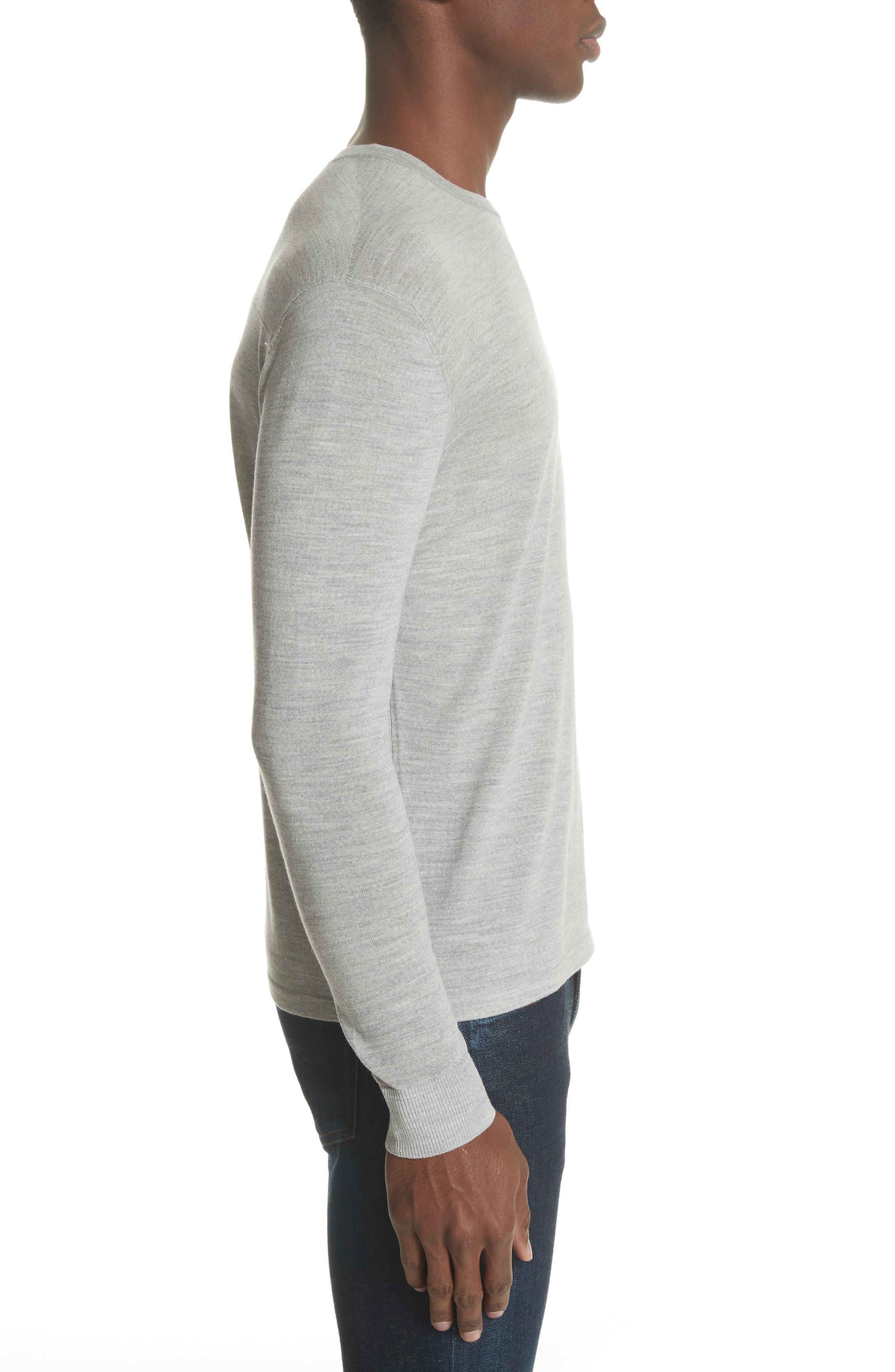 Nino Crewneck Wool Sweater,                             Alternate thumbnail 3, color,                             020