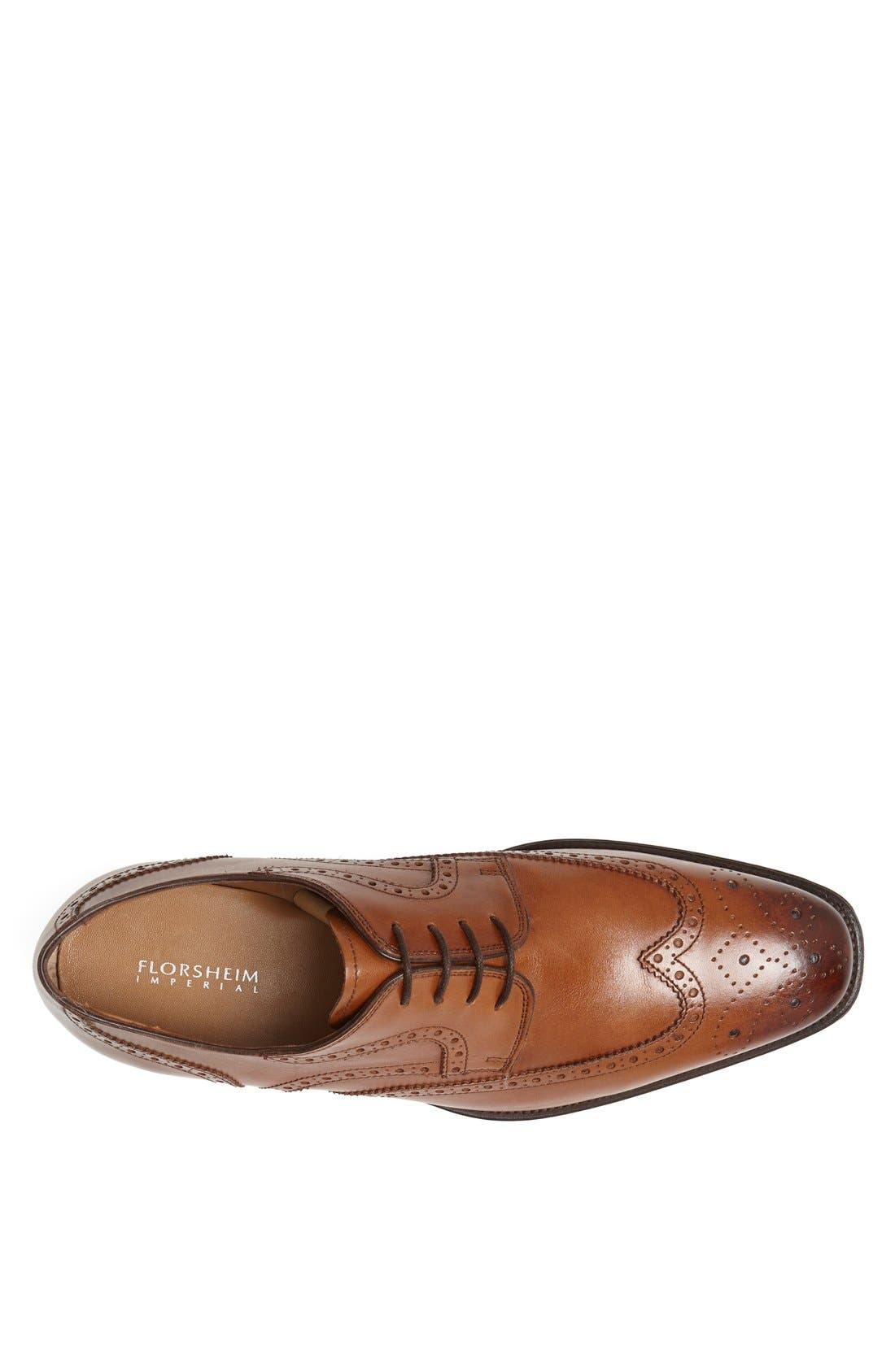 'Classico' Wingtip,                             Alternate thumbnail 3, color,                             COGNAC