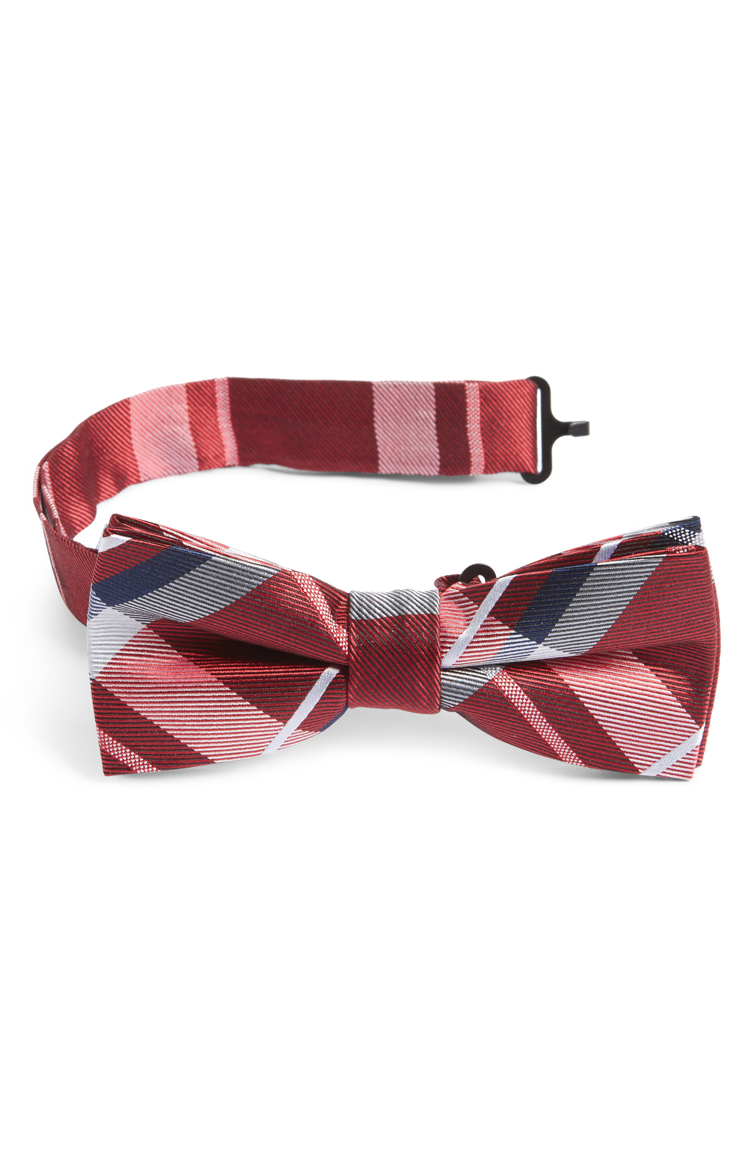 Plaid Silk Bow Tie,                             Main thumbnail 7, color,