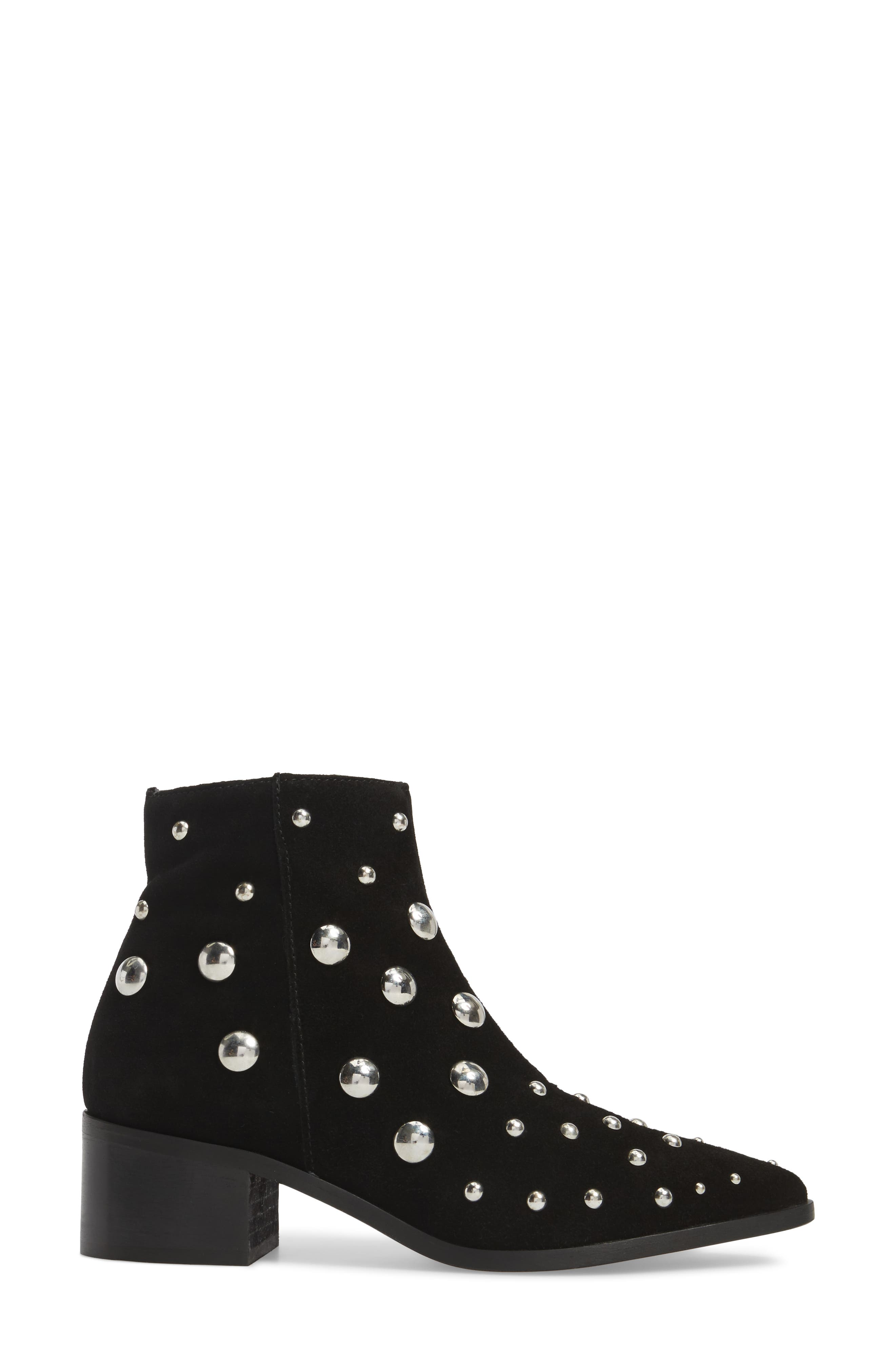 Barston Studded Boot,                             Alternate thumbnail 3, color,                             001