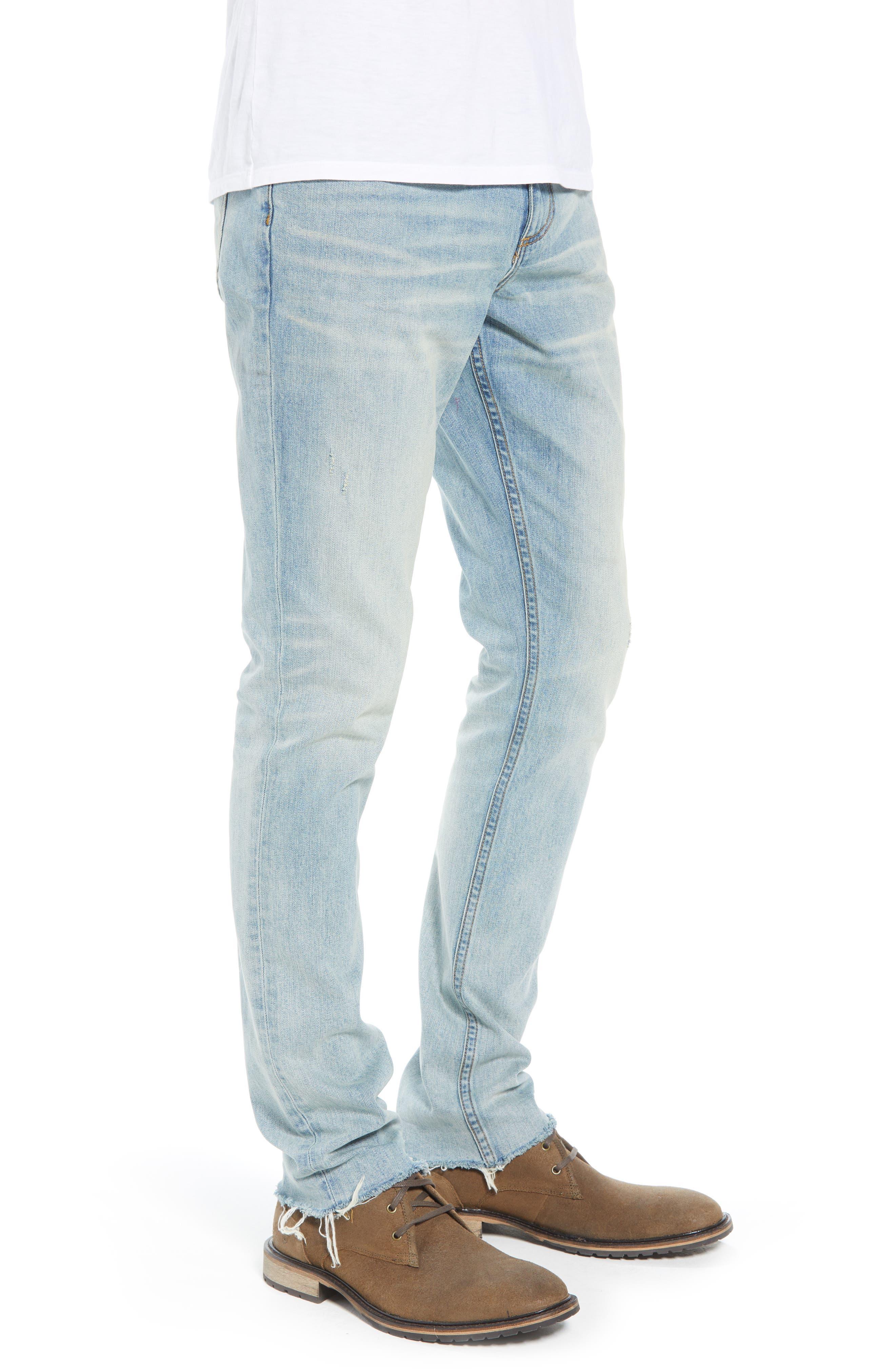 Slim Fit Jeans,                             Alternate thumbnail 3, color,                             BLUE FADED LIGHT WASH