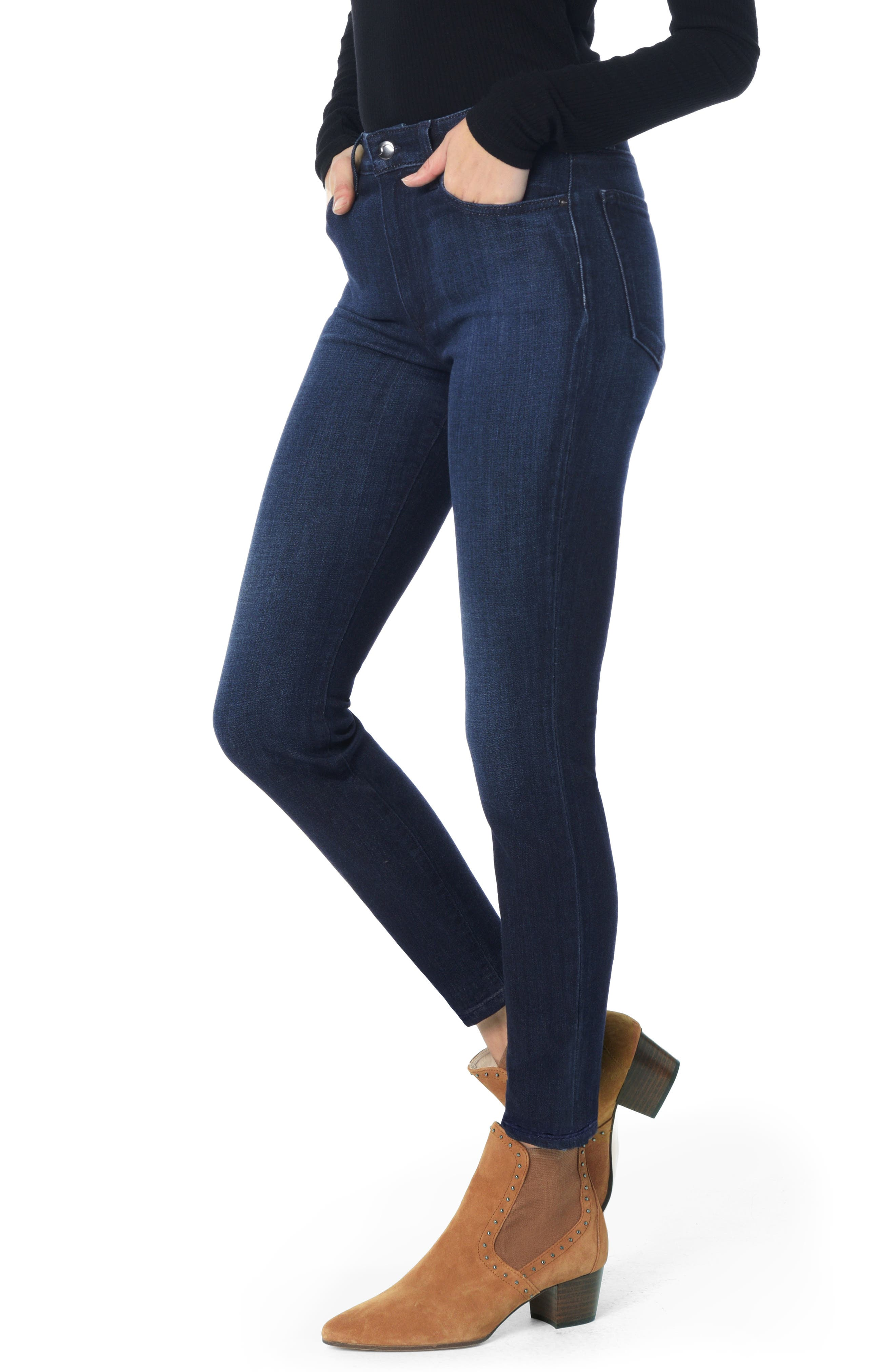 Charlie High Waist Ankle Skinny Jeans,                             Main thumbnail 1, color,                             LUPE