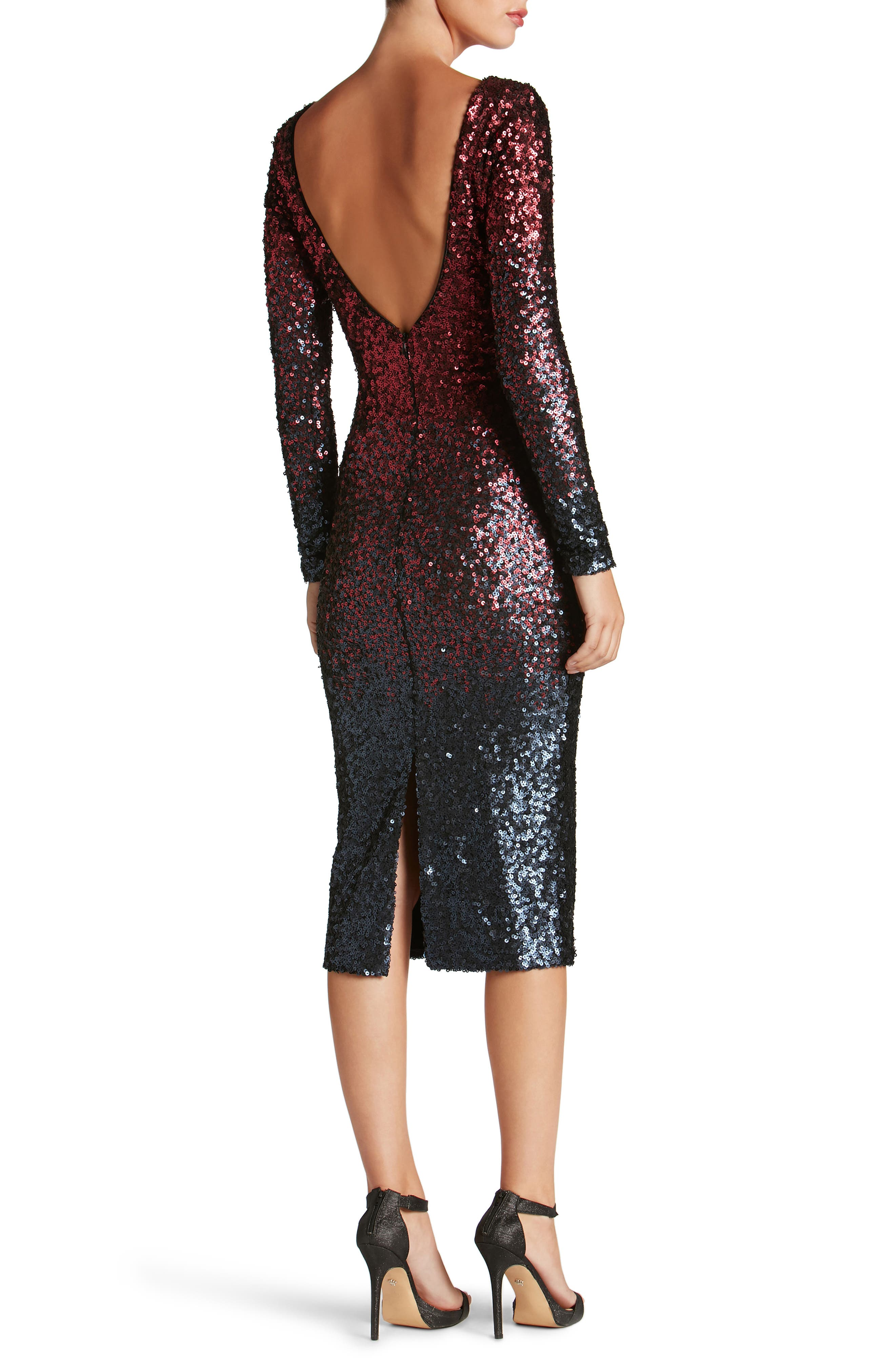 Emery Ombré Sequin Body-Con Dress,                             Alternate thumbnail 9, color,