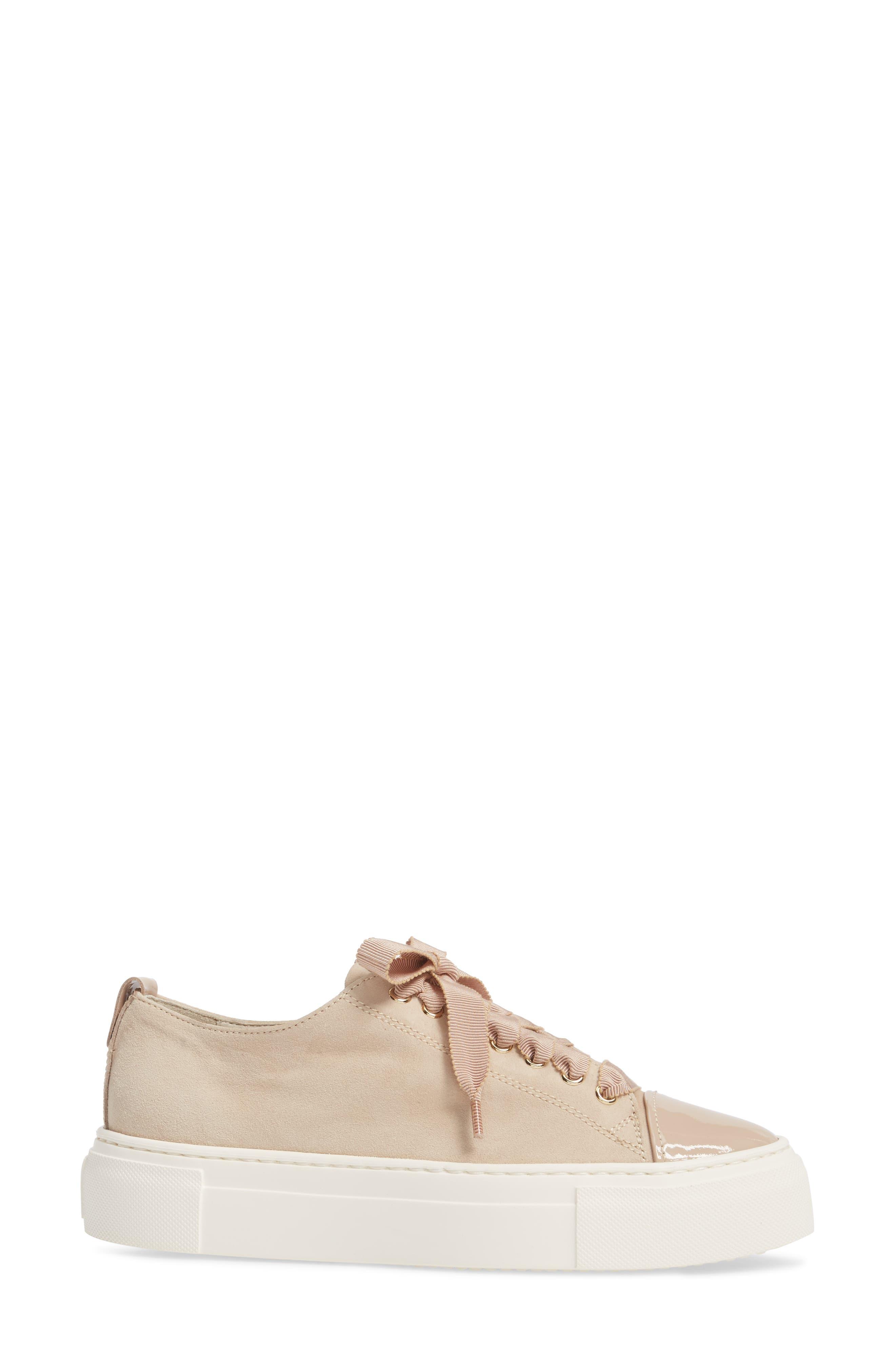 Cap Toe Platform Sneaker,                             Alternate thumbnail 8, color,