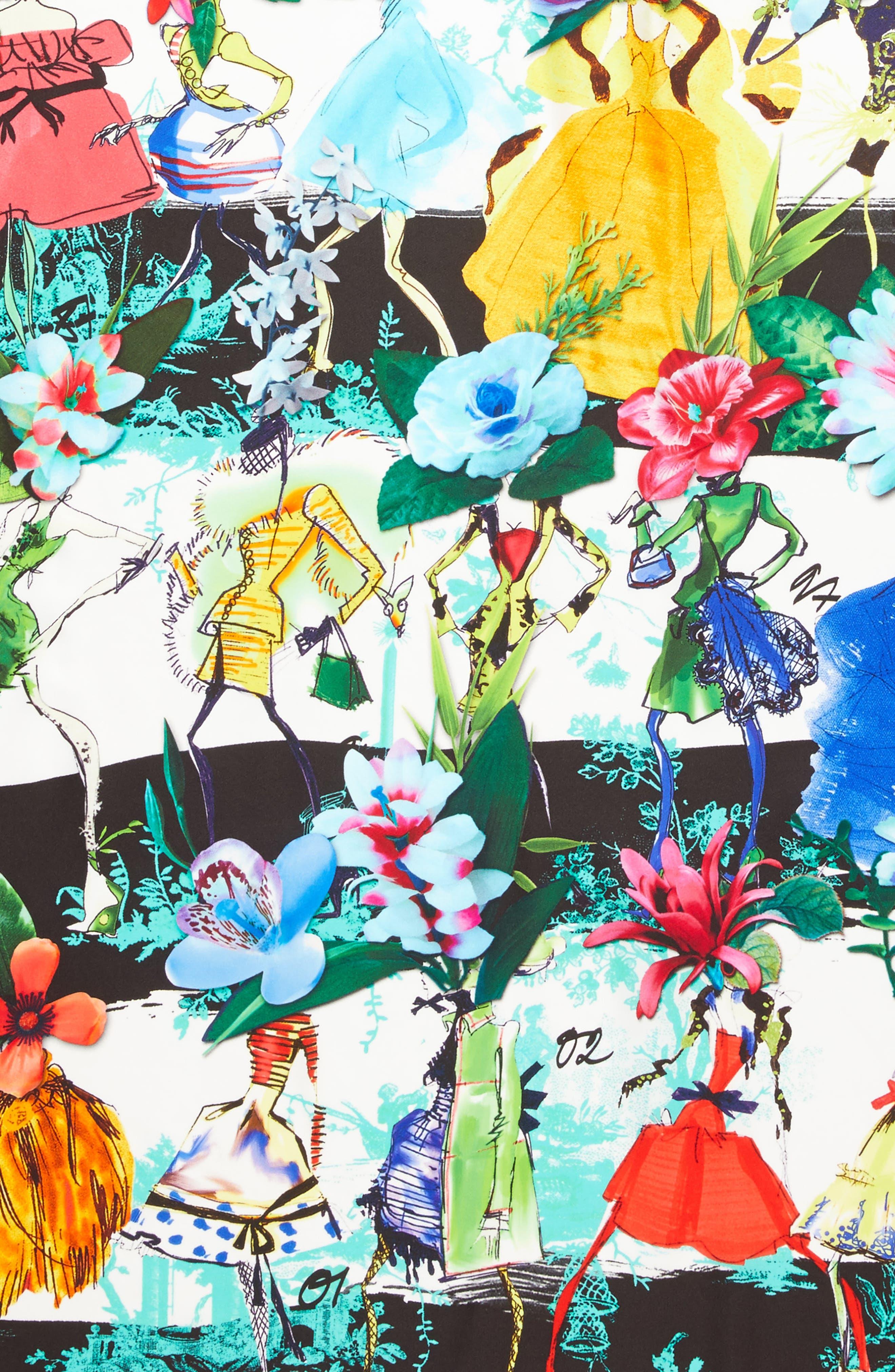 Les Filles en Fleur Square Silk Scarf,                             Alternate thumbnail 17, color,