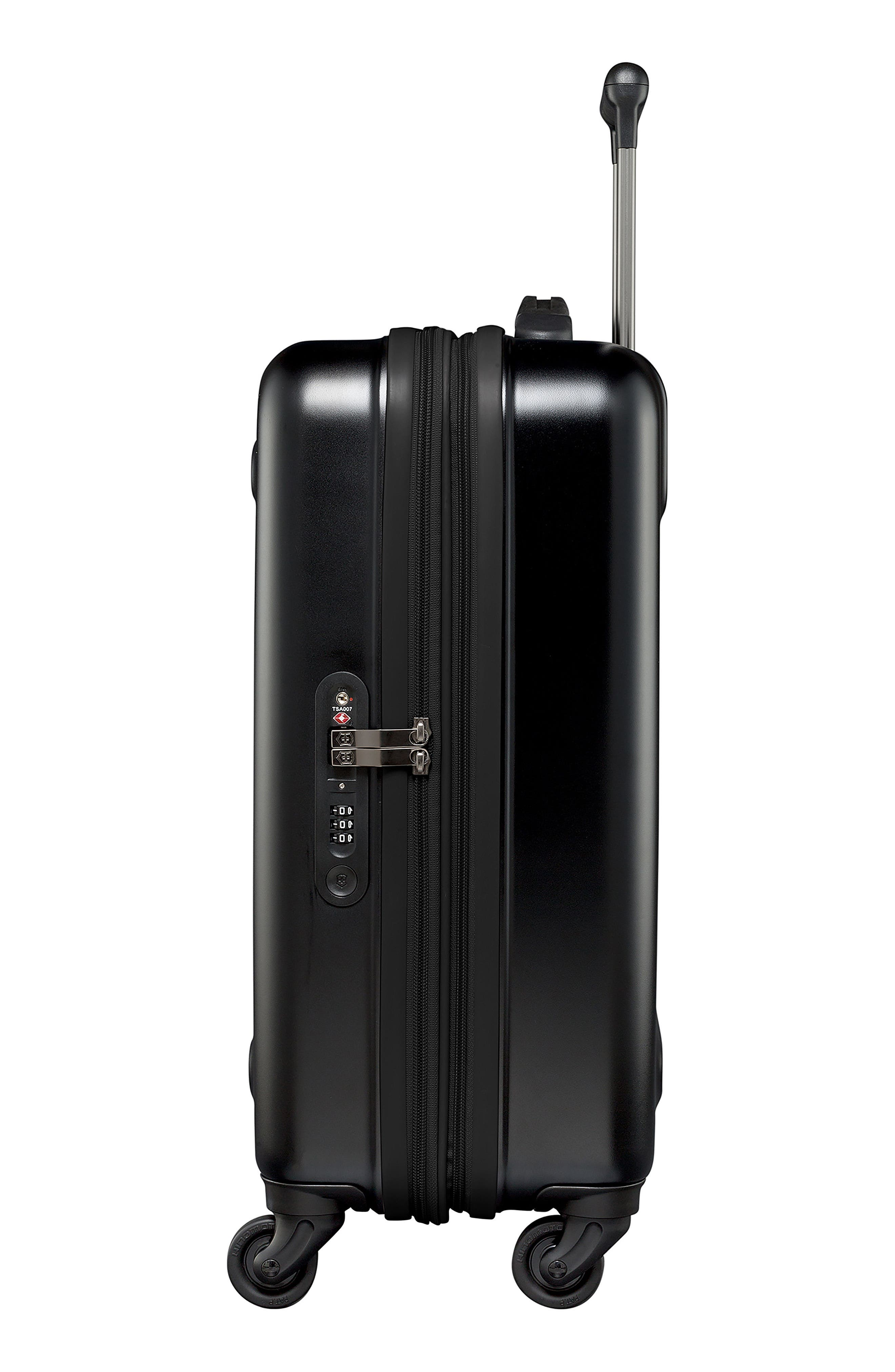 Etherius 22-Inch Wheeled Carry-On,                             Alternate thumbnail 3, color,                             BLACK