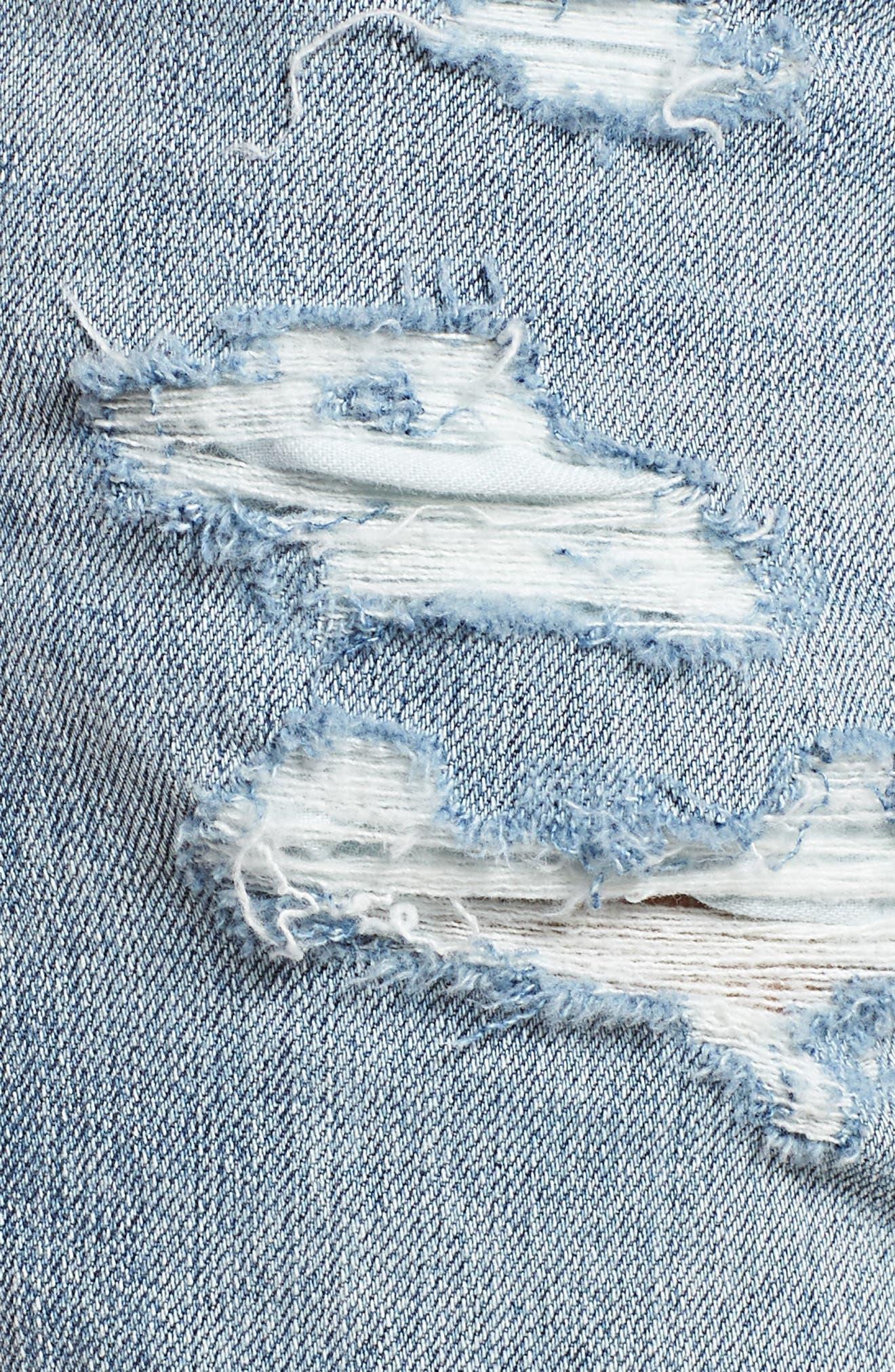 Hailey High Waist Cuff Denim Shorts,                             Alternate thumbnail 6, color,                             21 YRS-REFLECTION DESTRUCTED