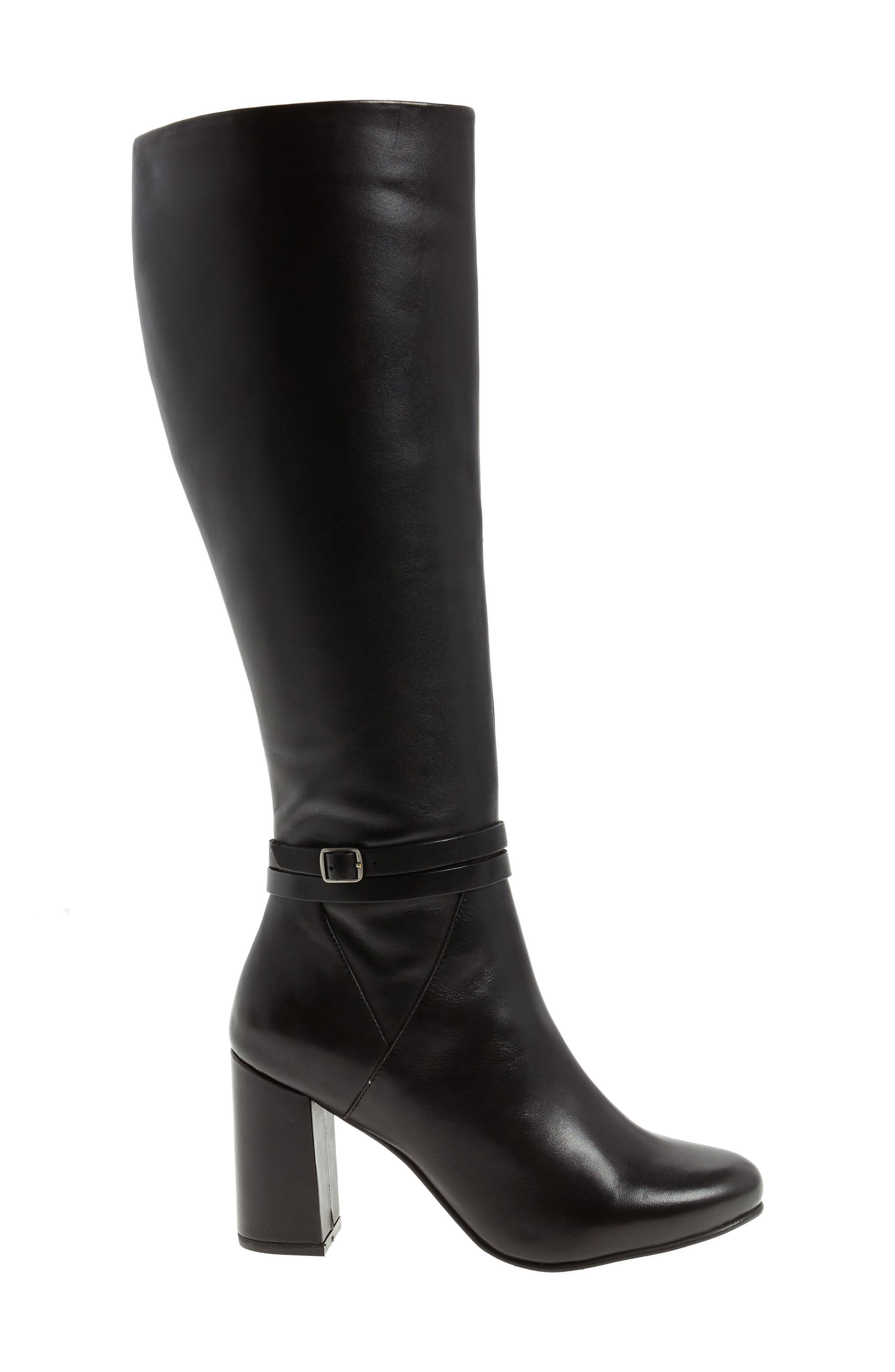 Ovation Knee High Boot,                             Alternate thumbnail 3, color,                             001